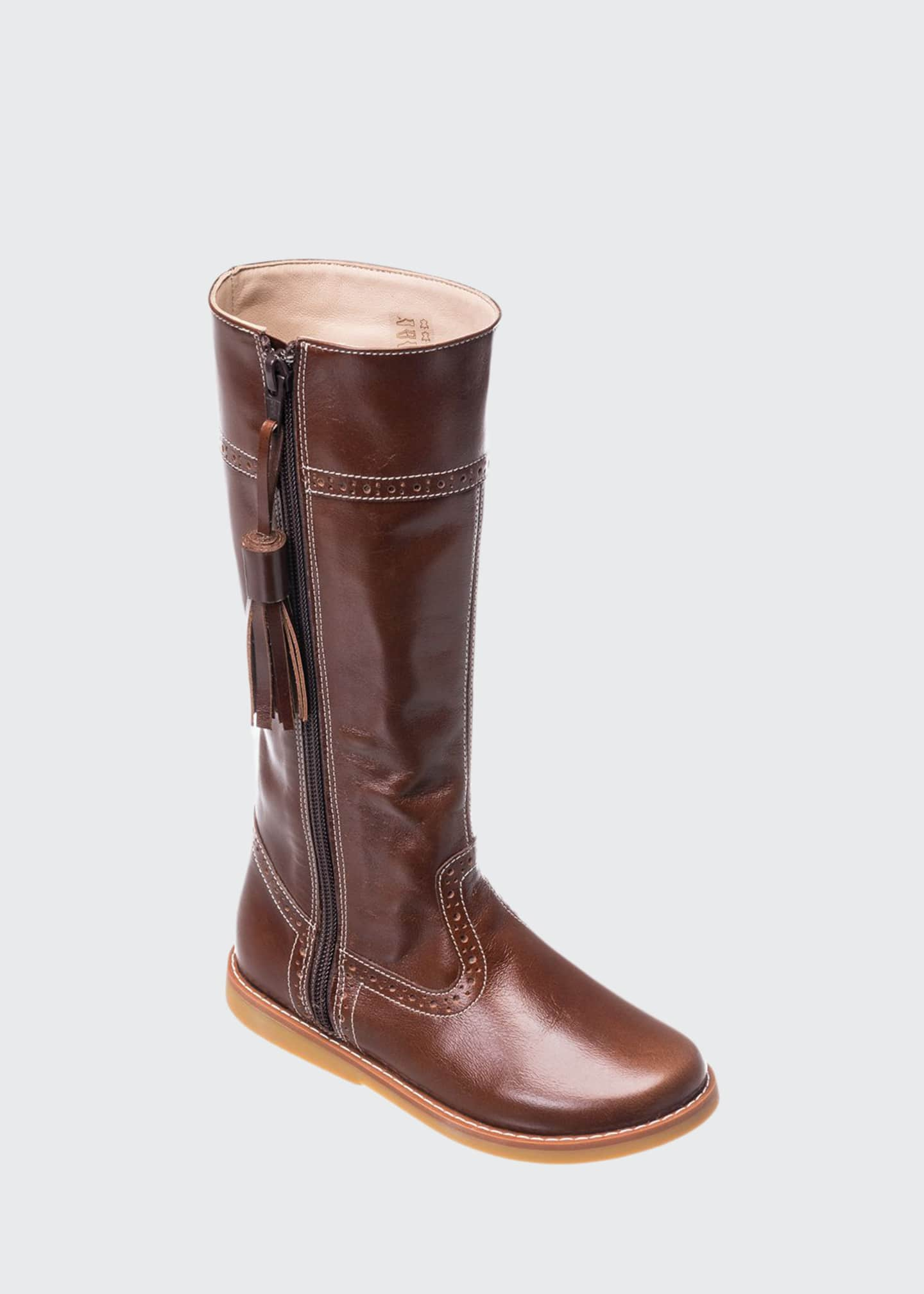 Elephantito Girl's Leather Riding Boots, Kids