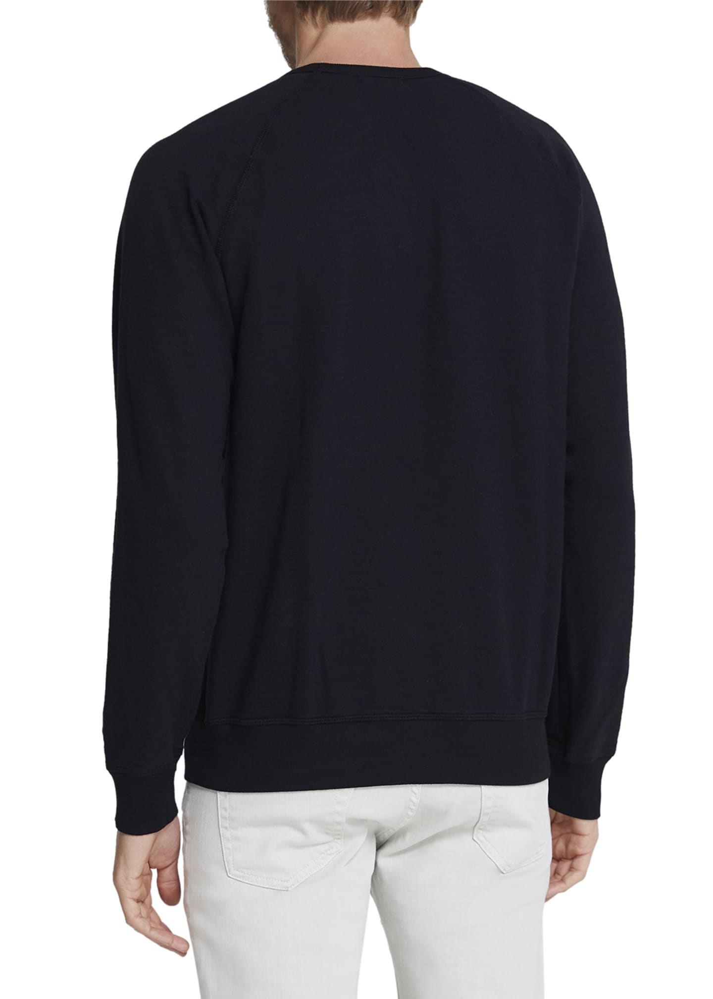 Image 2 of 2: Men's Siris Solid Cotton Crewneck Sweatshirt