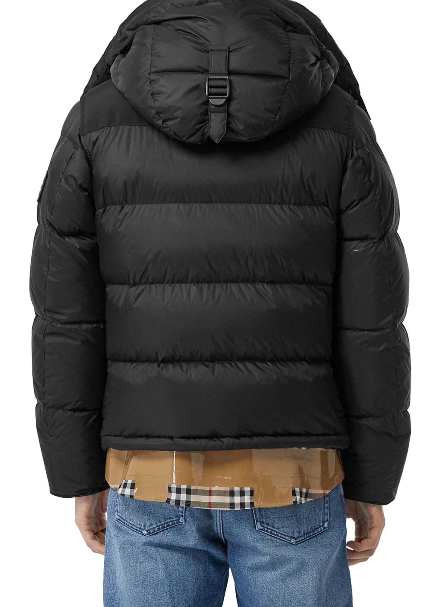 Image 2 of 5: Men's Lockwell Quilted Puffer Jacket w/ Signature Check Trim