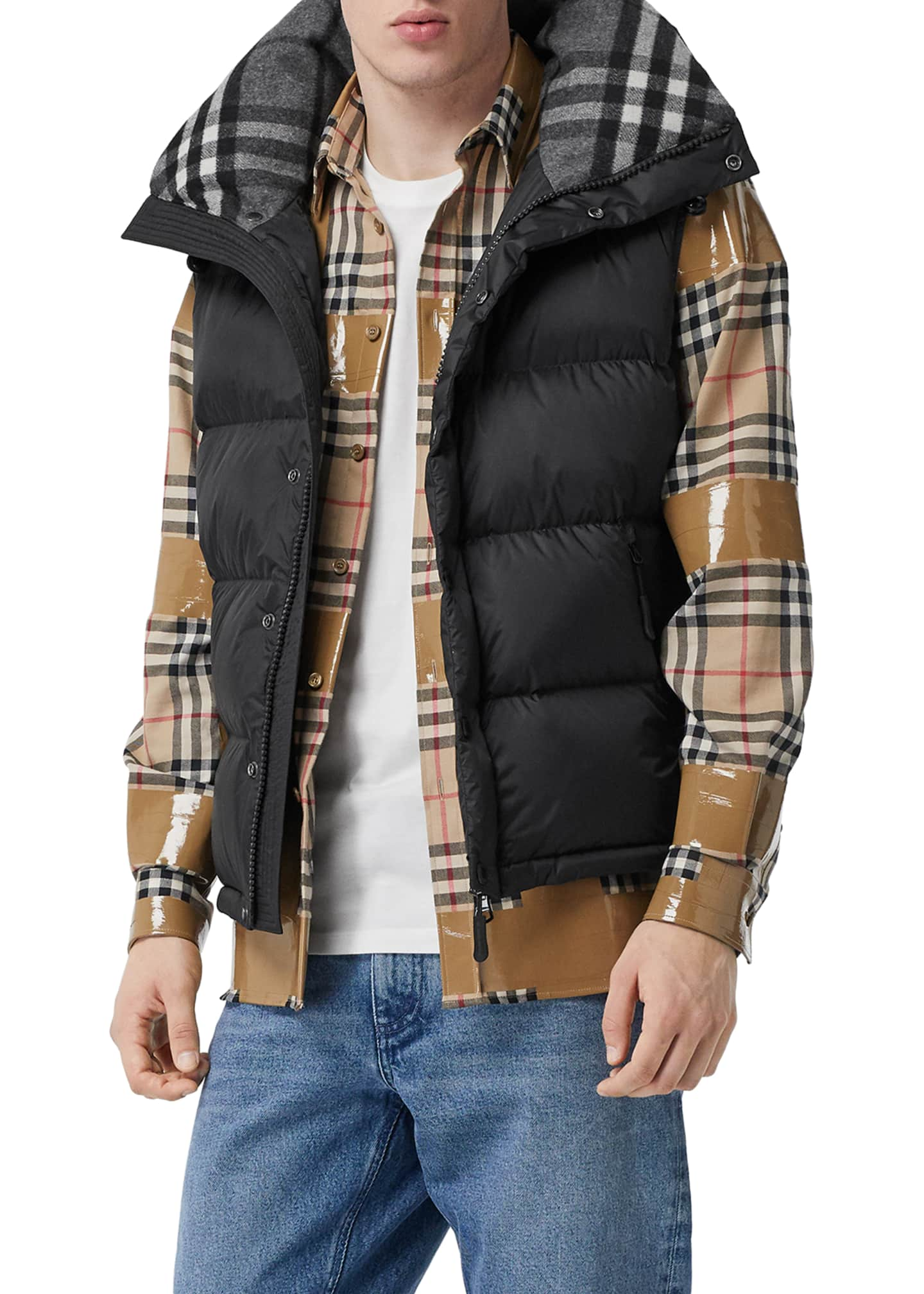 Image 3 of 5: Men's Lockwell Quilted Puffer Jacket w/ Signature Check Trim