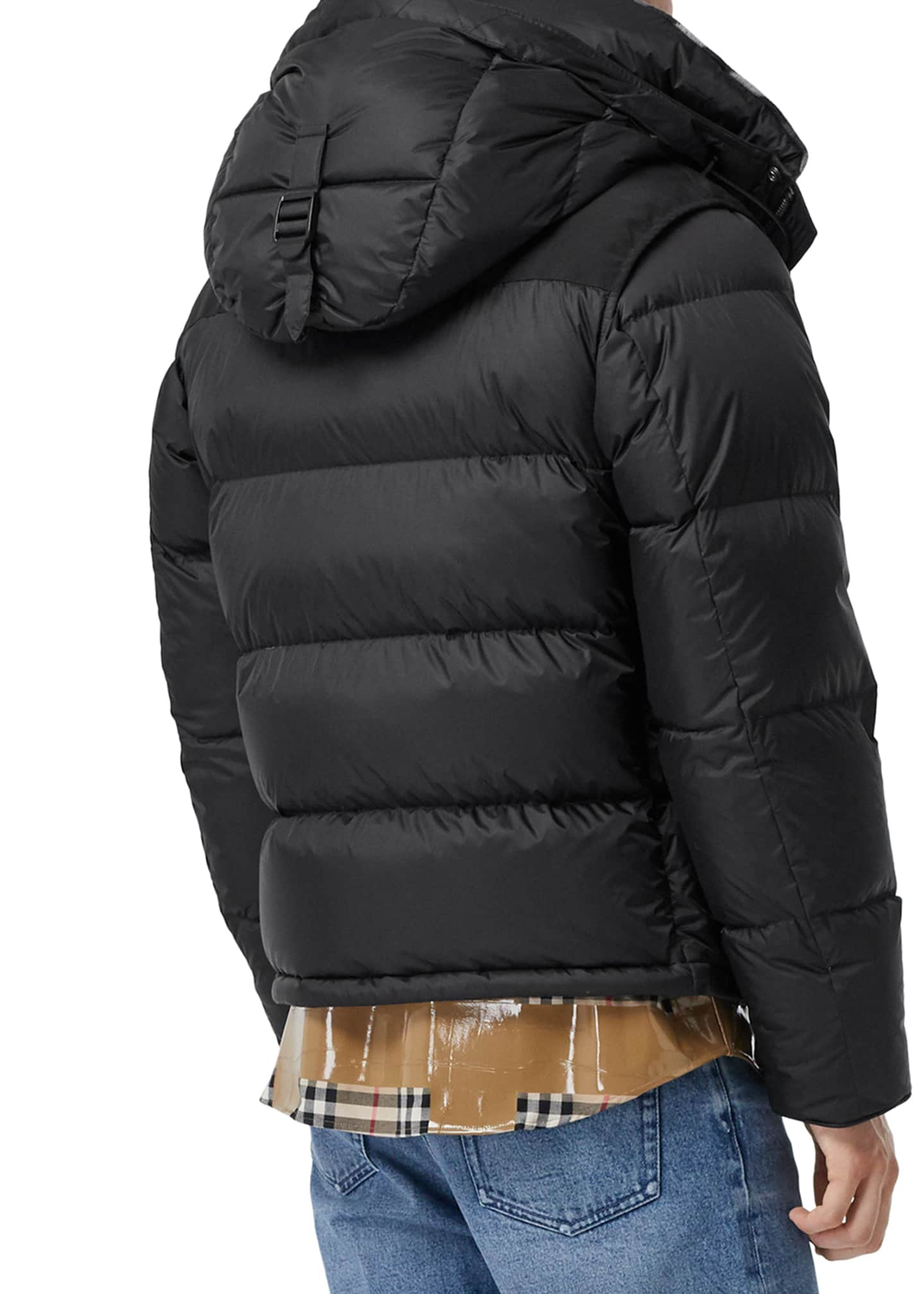 Image 4 of 5: Men's Lockwell Quilted Puffer Jacket w/ Signature Check Trim