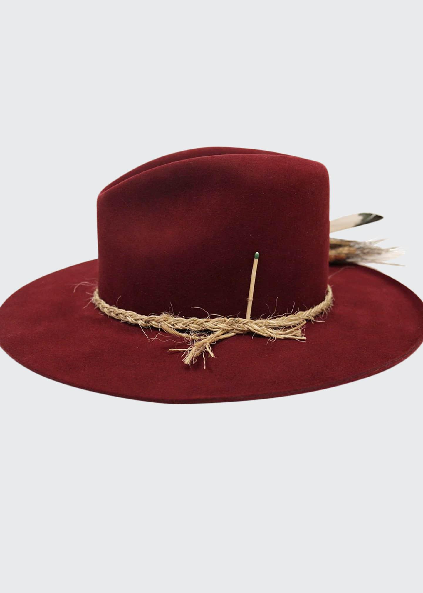 Nick Fouquet Scarlett Beaver Felt Fedora Hat w/