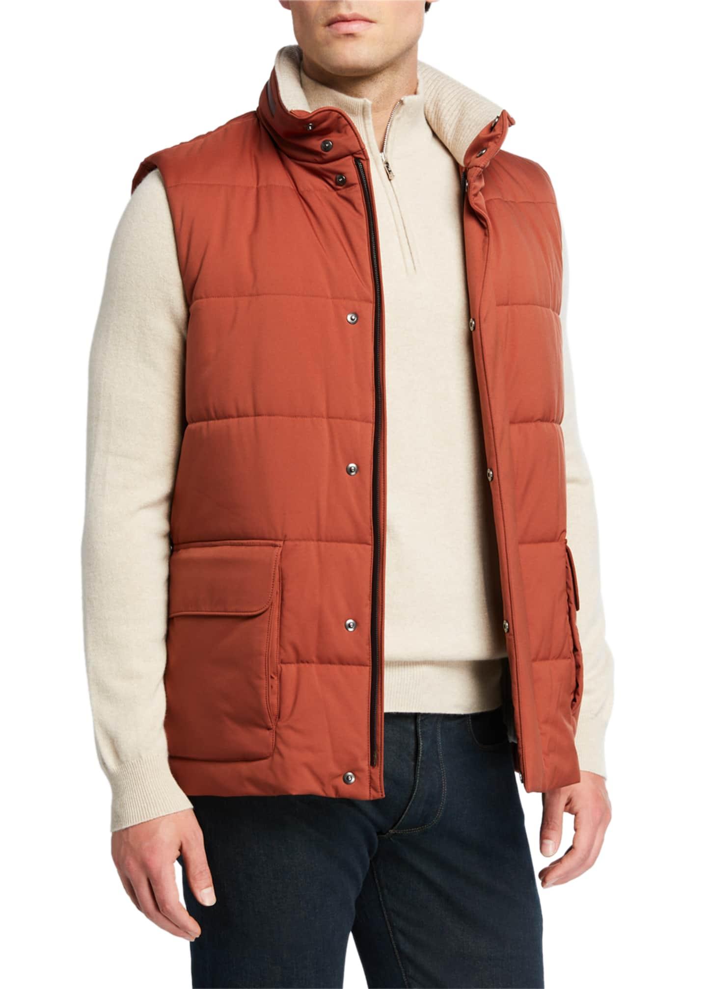 Loro Piana Men's Quilted Winter Voyager Vest