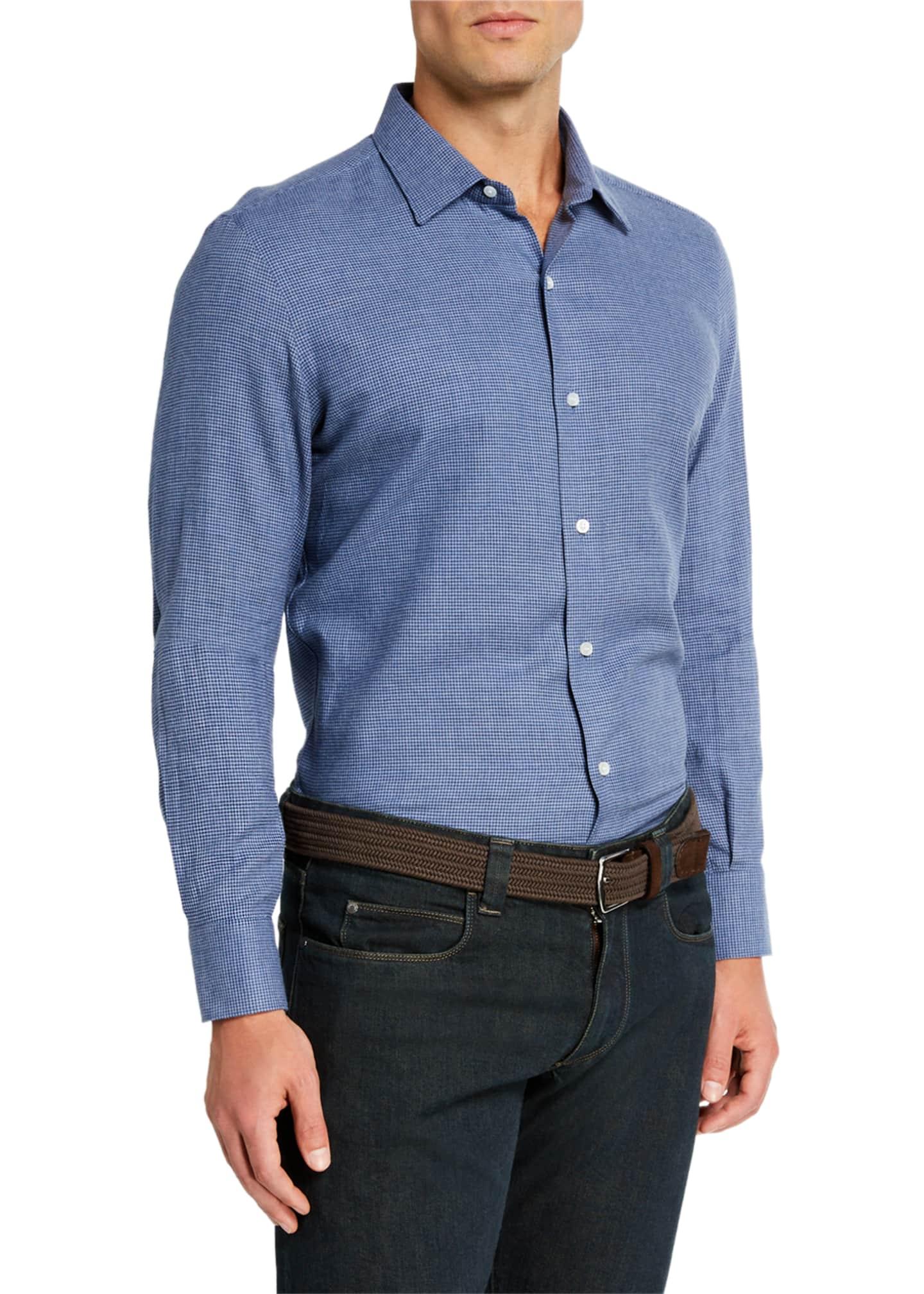 Loro Piana Men's Arthur Highlands Sport Shirt