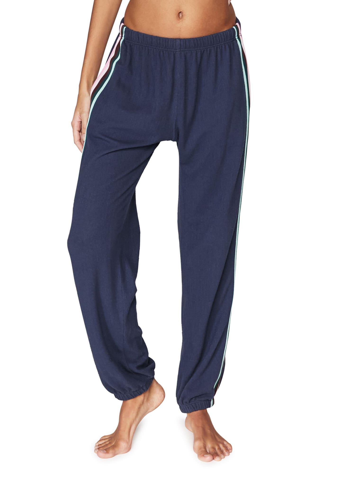 Spiritual Gangster Malibu Night Striped Sweatpants