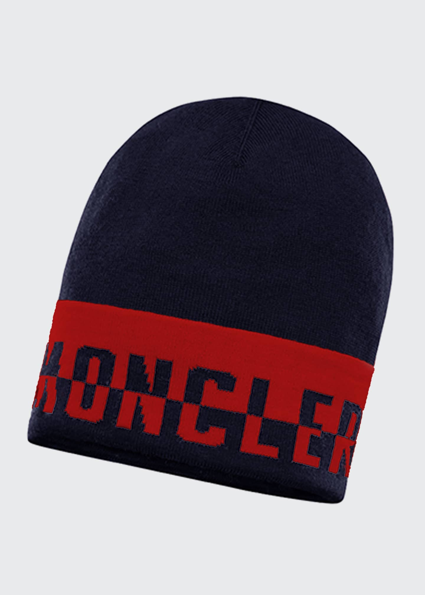Image 1 of 2: Kids' Colorblock Logo Text Beanie