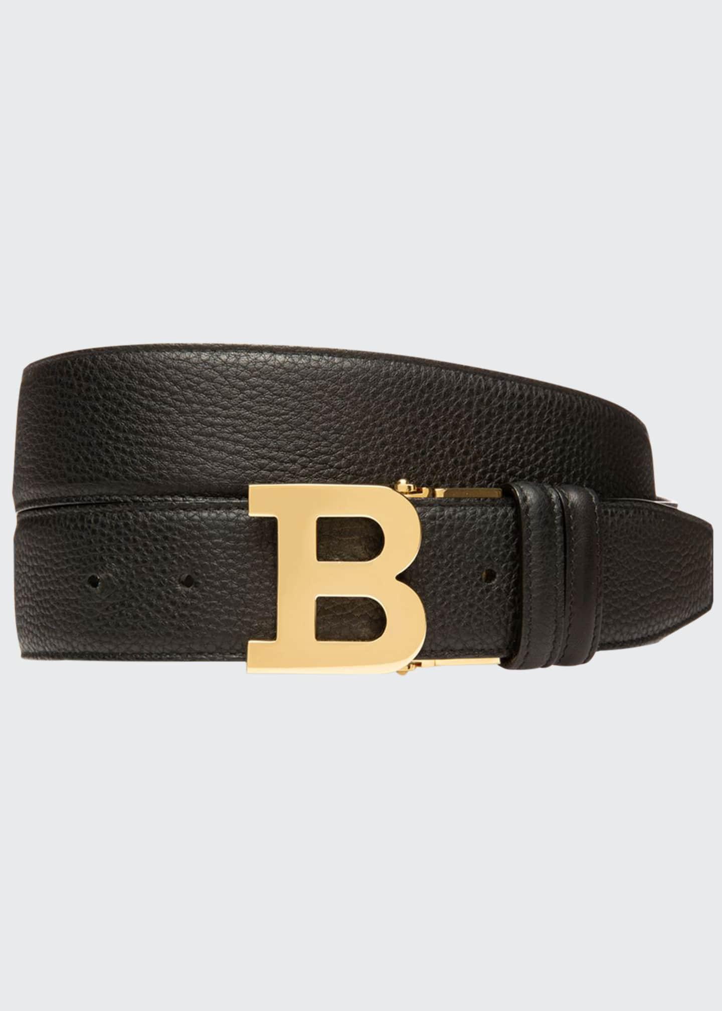 Bally Men's 40mm B-Buckle Leather Belt