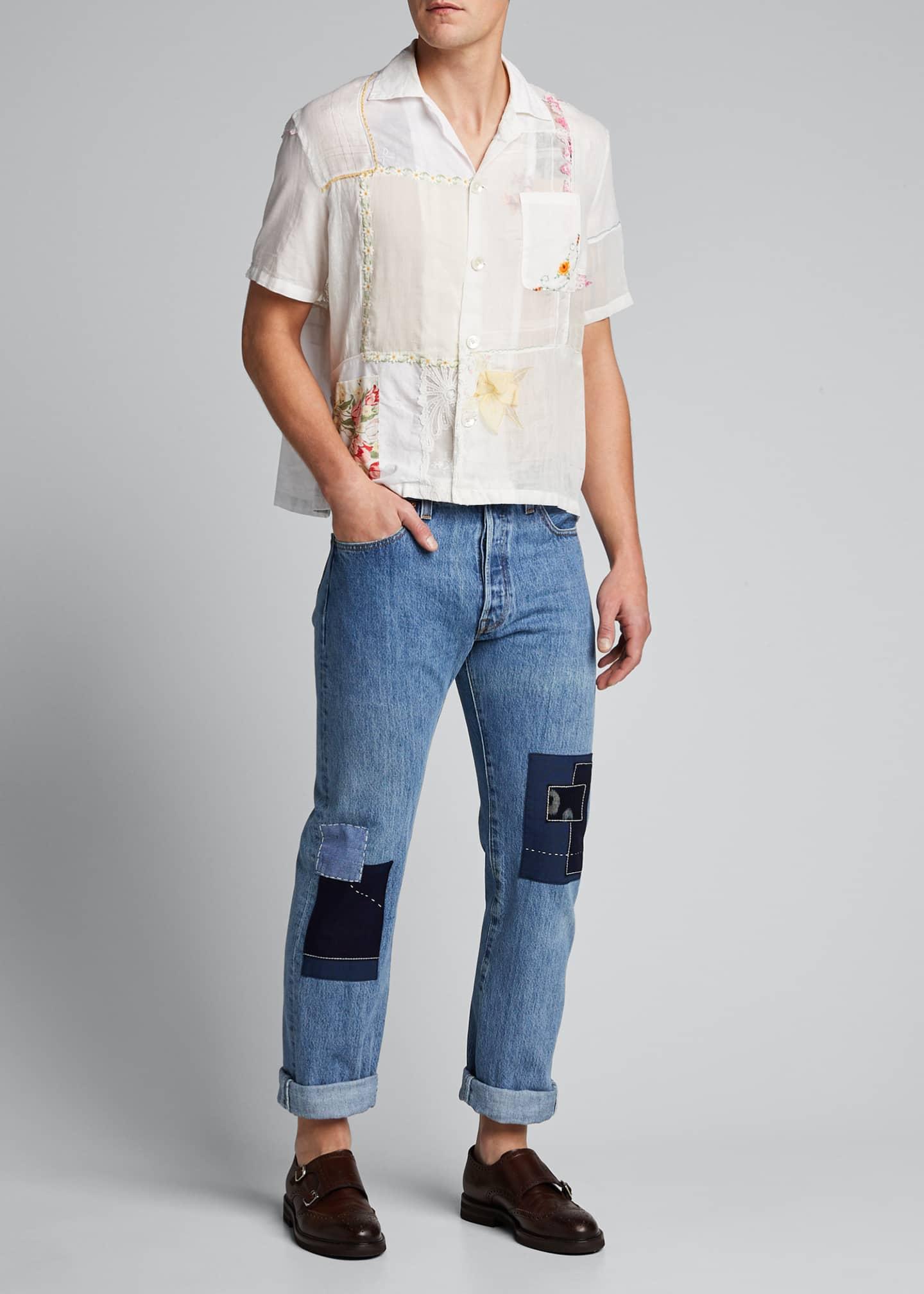 Bode Men's Handkerchief Bowling Shirt