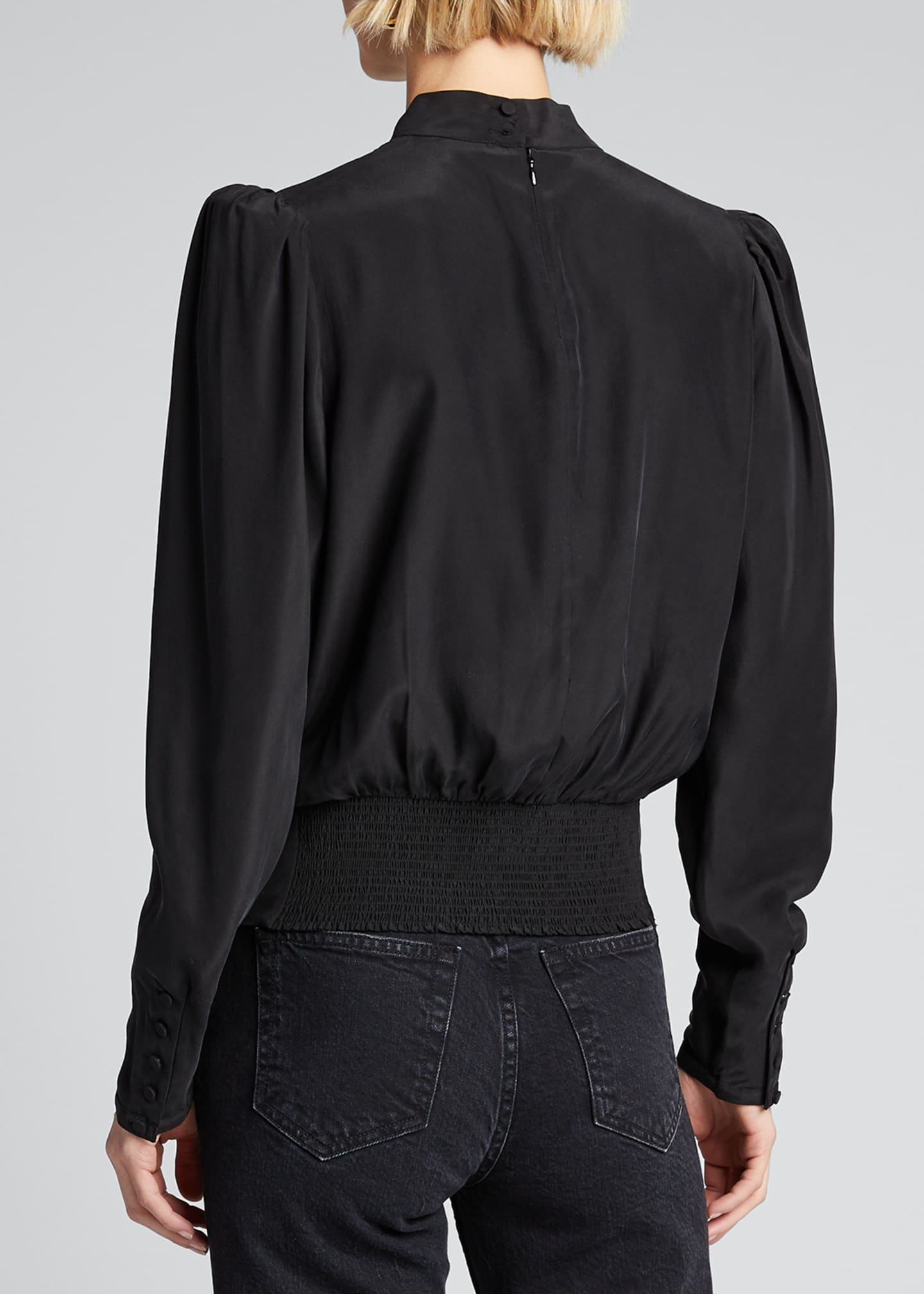 Image 2 of 5: Luxe Keyhole-Front Long-Sleeve Top