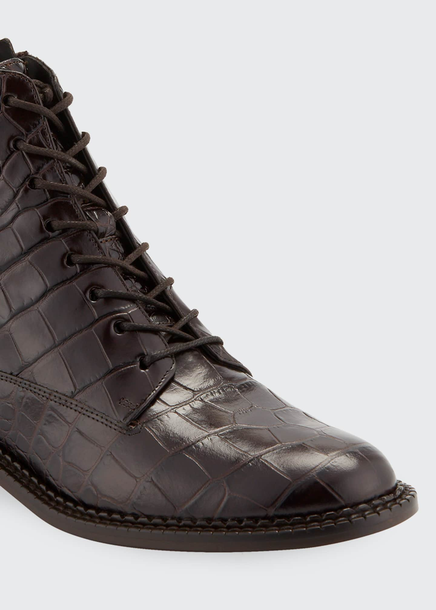 Image 5 of 5: Cabria Embossed Lace-Up Booties