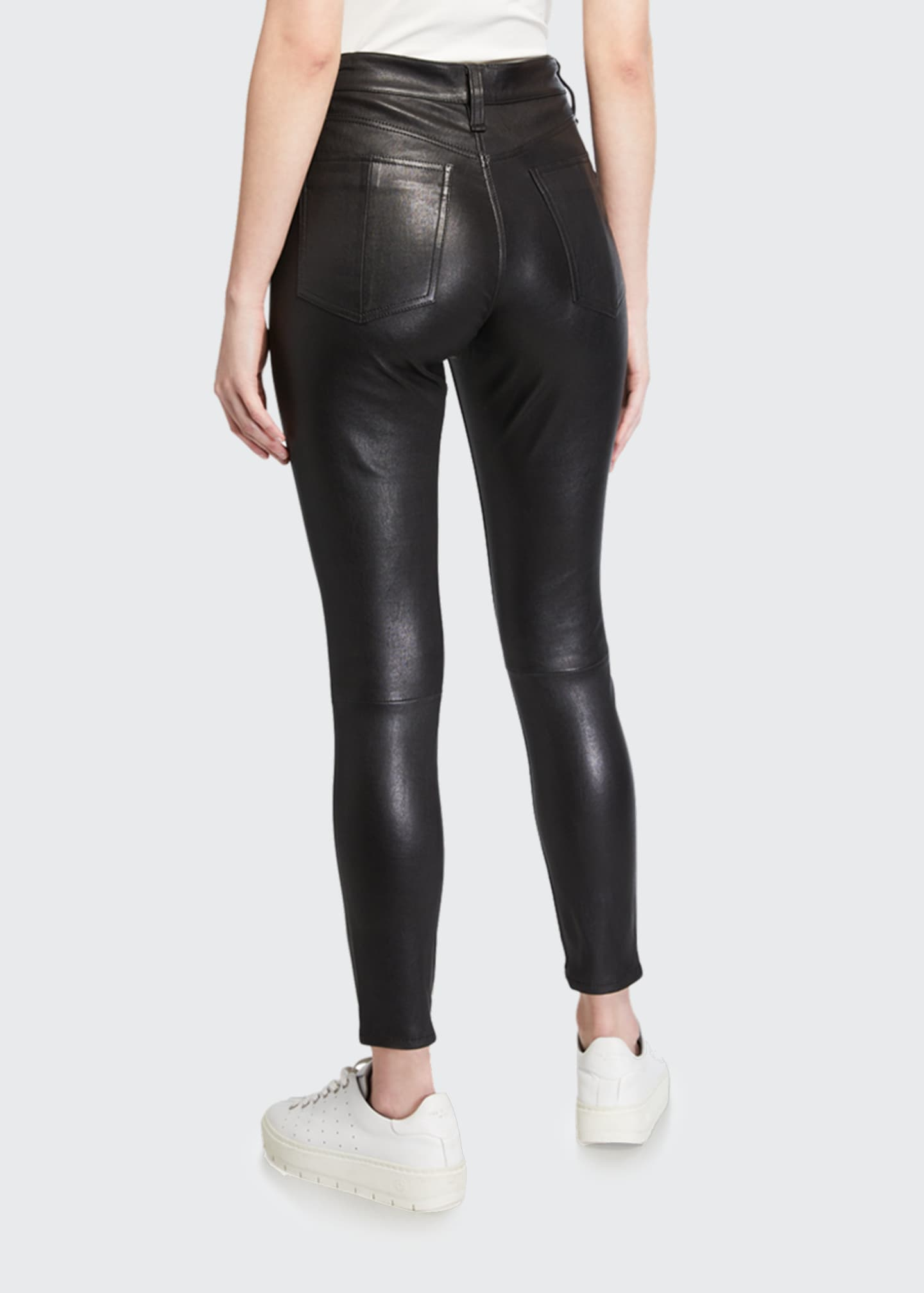 Image 2 of 3: Nina Leather High-Rise Pants