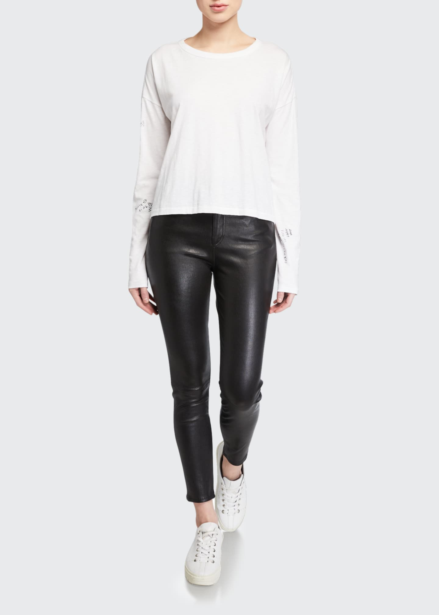 Image 3 of 3: Nina Leather High-Rise Pants