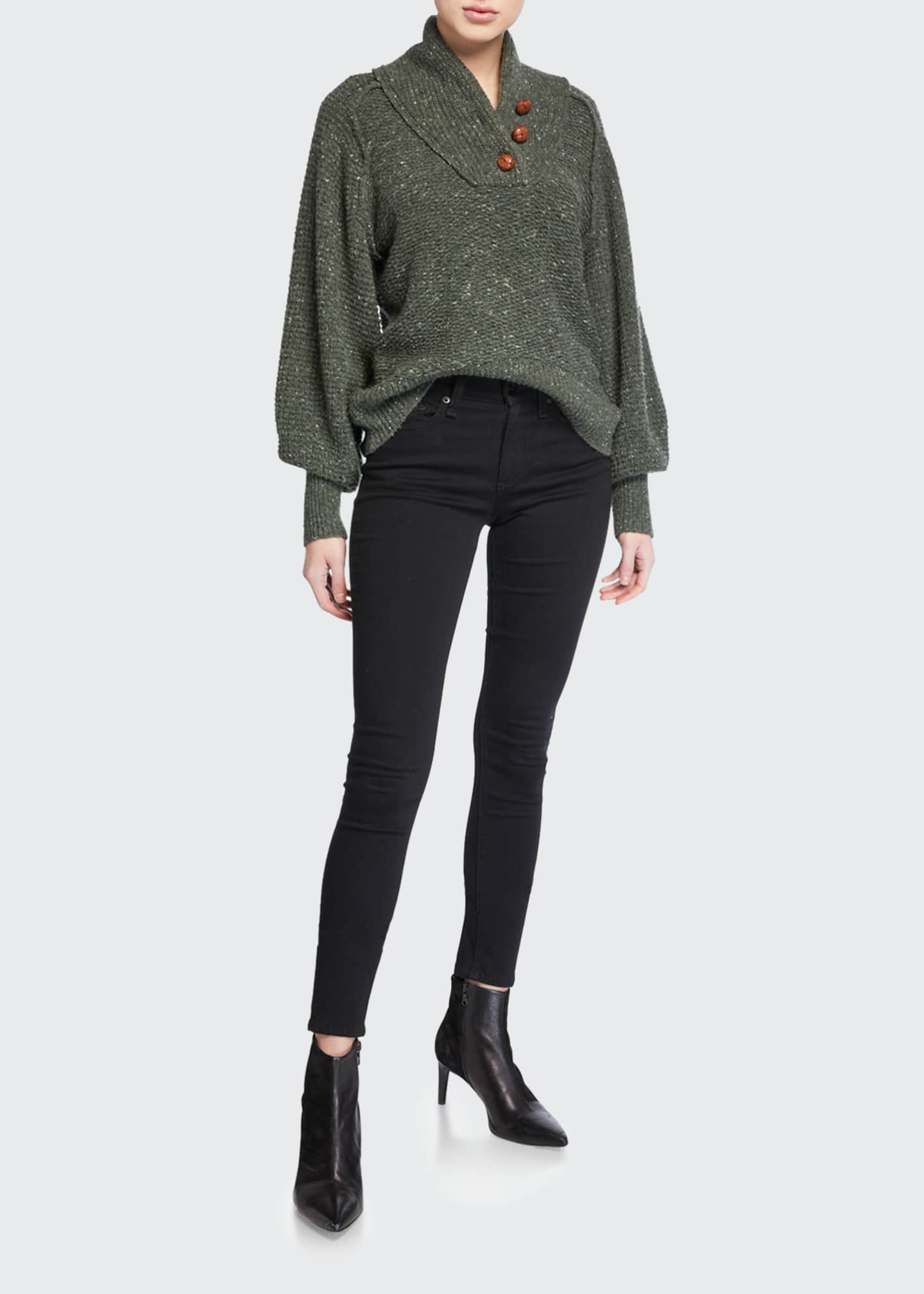 Image 1 of 3: Cate Mid-Rise Skinny Jeans