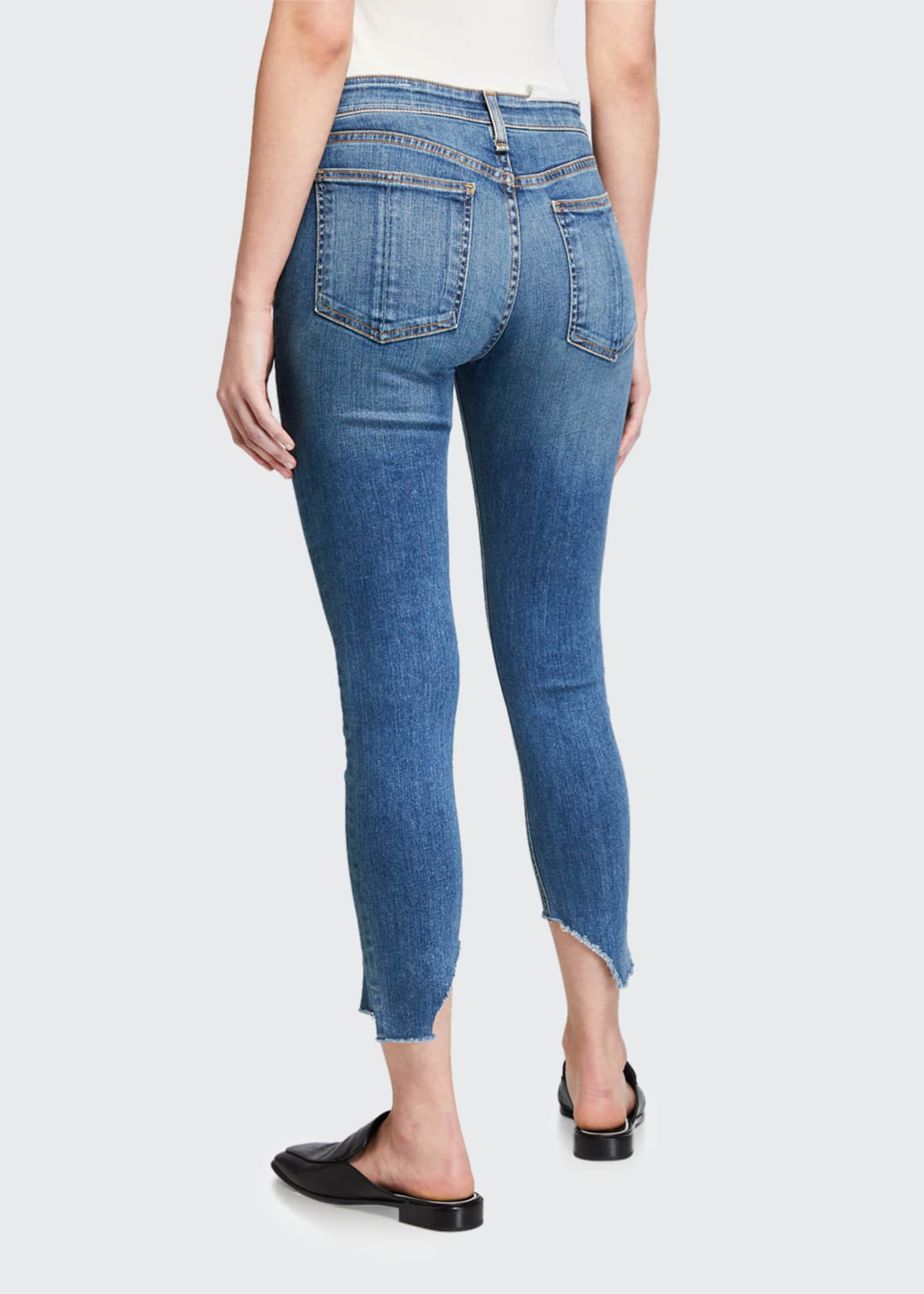 Image 2 of 3: Cate Mid-Rise Skinny Jeans with Step-Hem