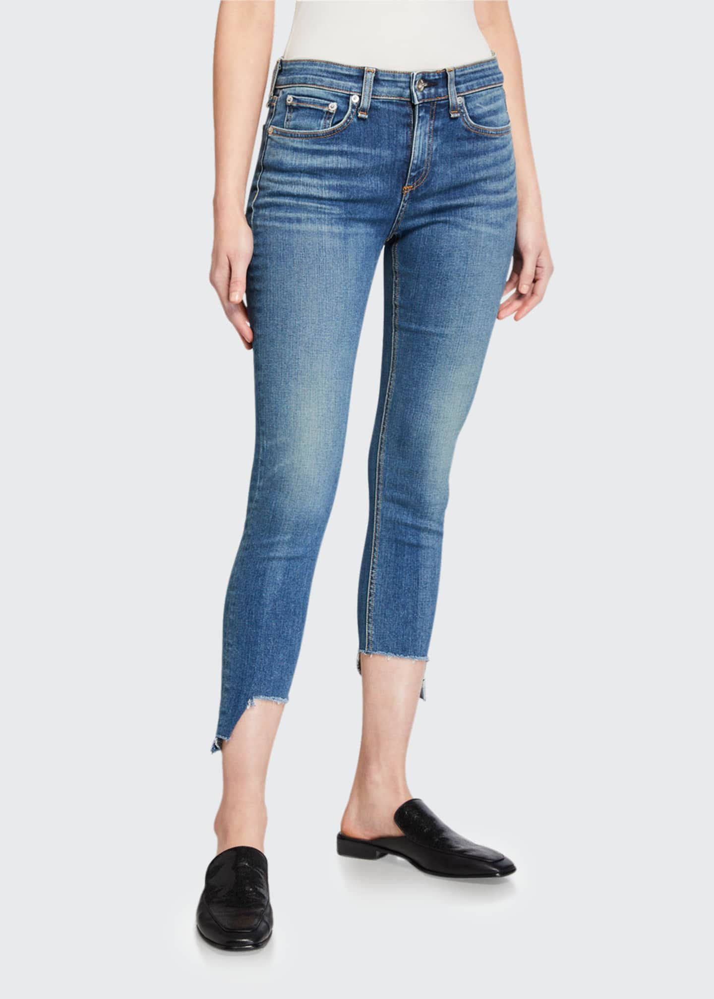 Image 1 of 3: Cate Mid-Rise Skinny Jeans with Step-Hem