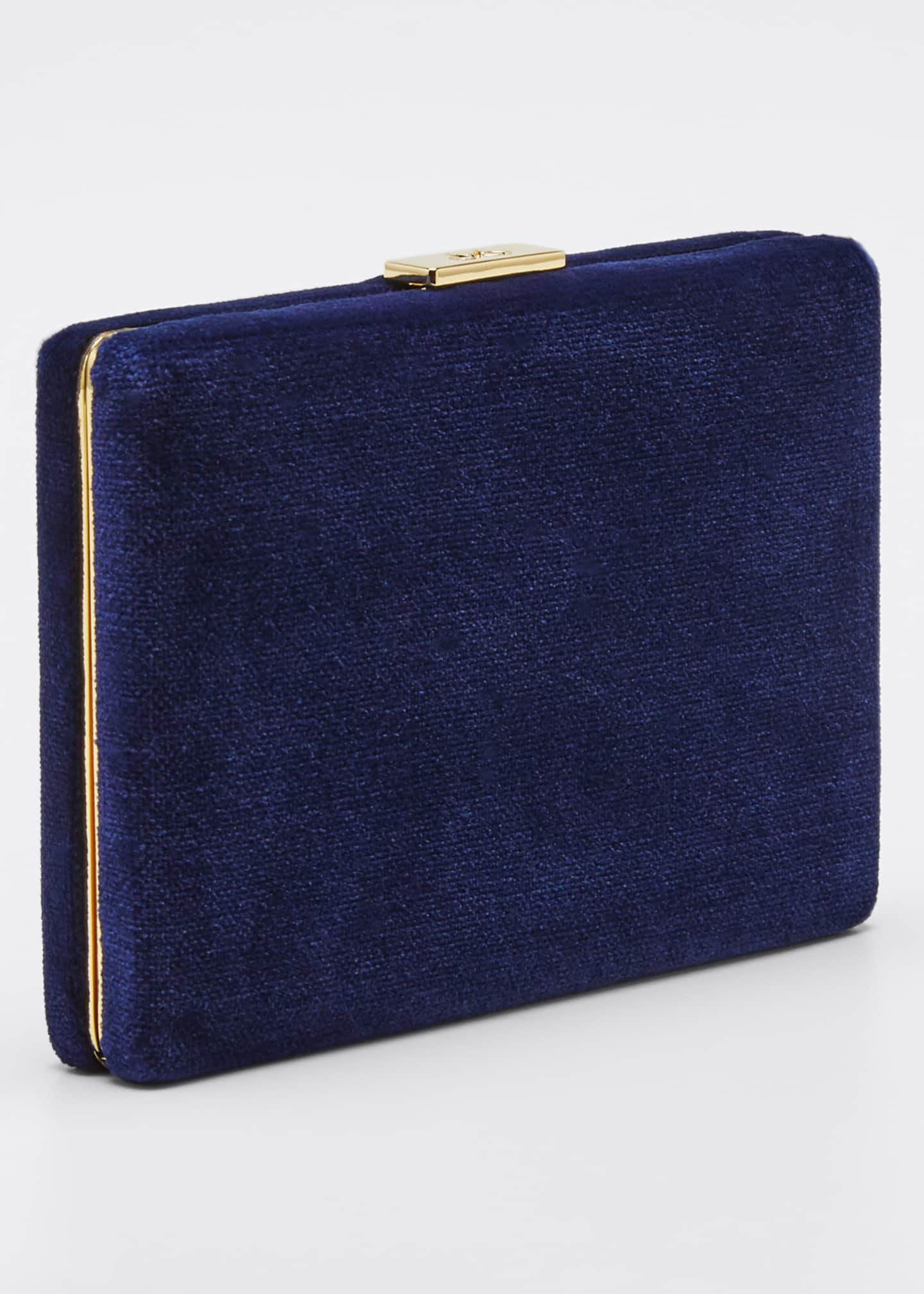 Image 3 of 5: Velvet Card Case with Chain