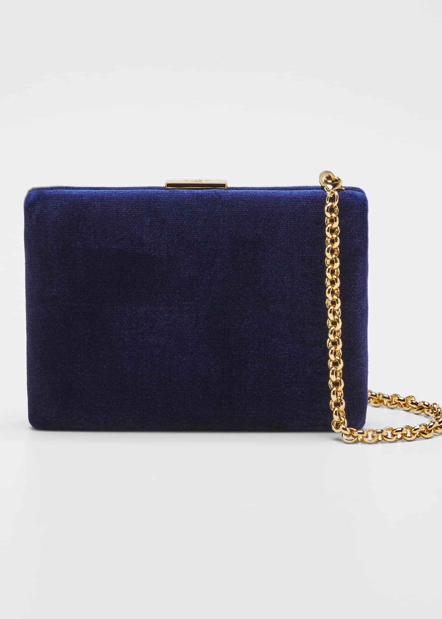 Image 1 of 5: Velvet Card Case with Chain