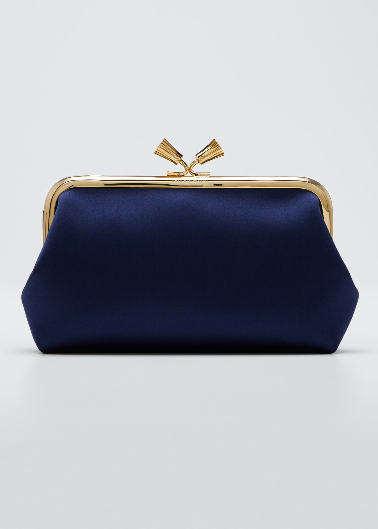 Anya Hindmarch Maud Tassel Satin Clutch Bag