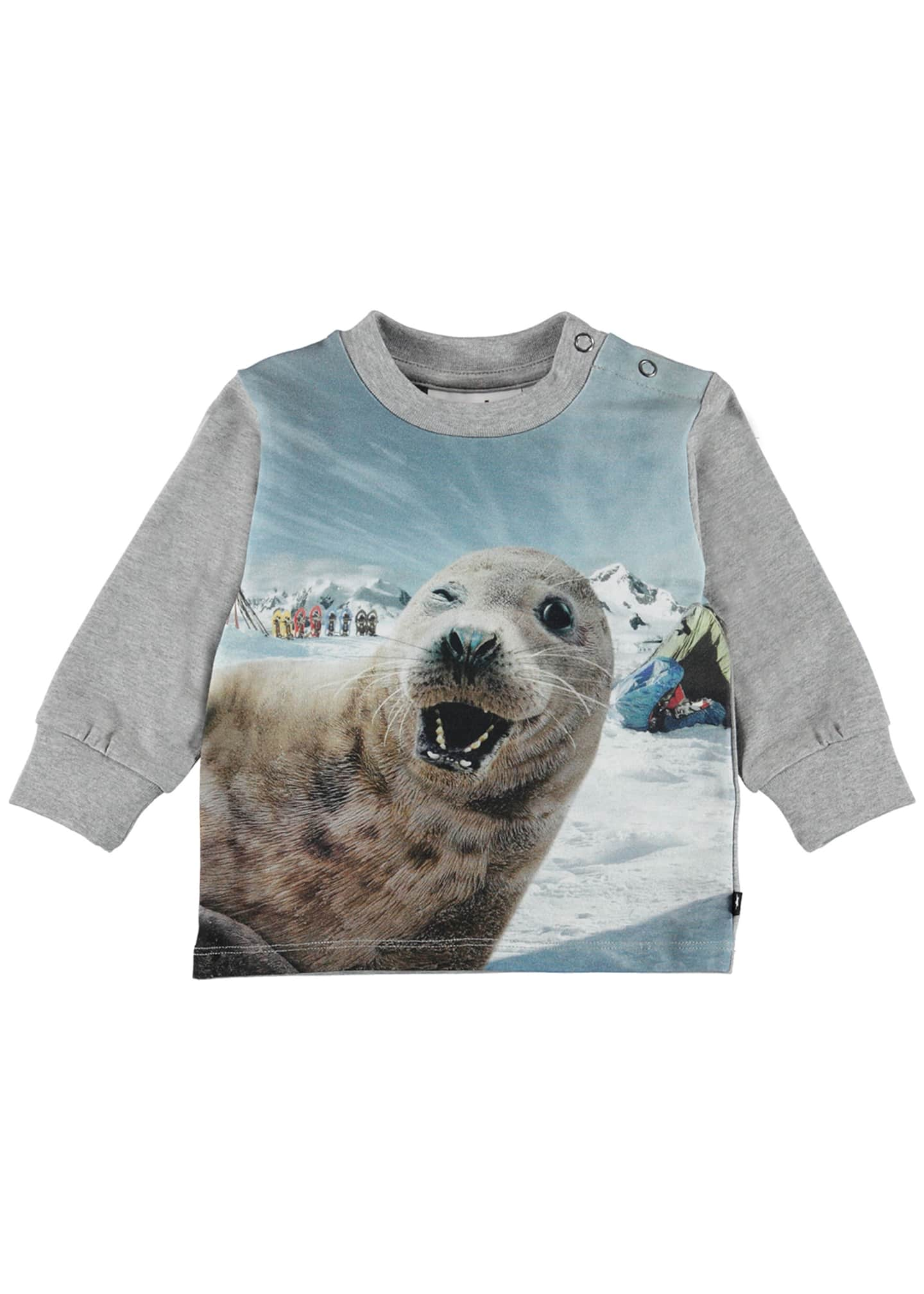 Molo Eloy Seal Selfie Print T-Shirt, Size 6-24