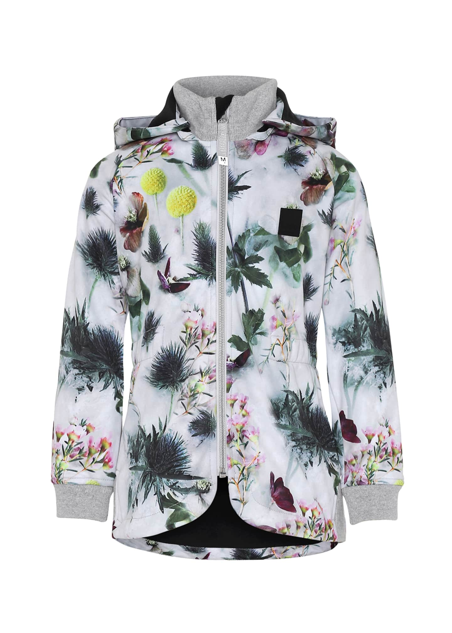 Molo Girl's Hillary Floral Print Waterproof Soft Shell
