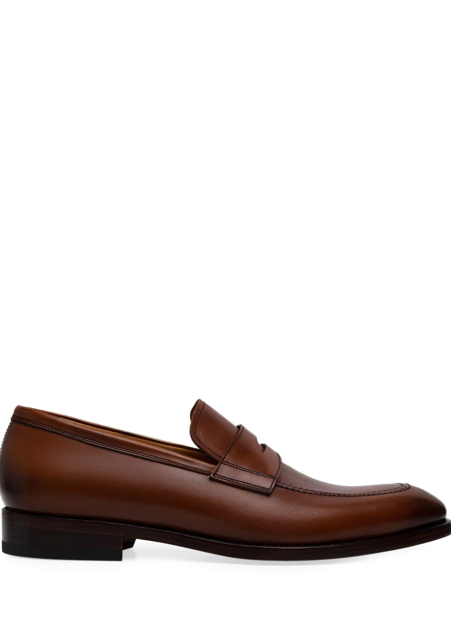 Image 2 of 2: Men's Lane Leather Penny Loafers