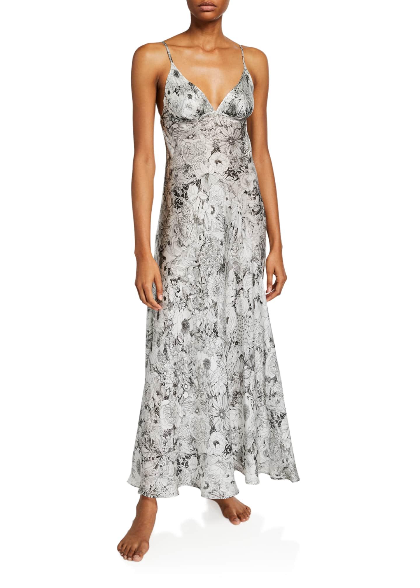 Christine Lingerie Arabella Floral-Print Long Nightgown