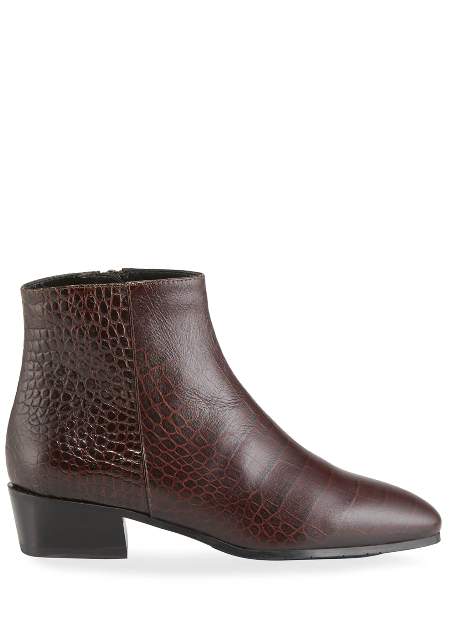 Image 2 of 3: Fuoco Embossed Leather Booties