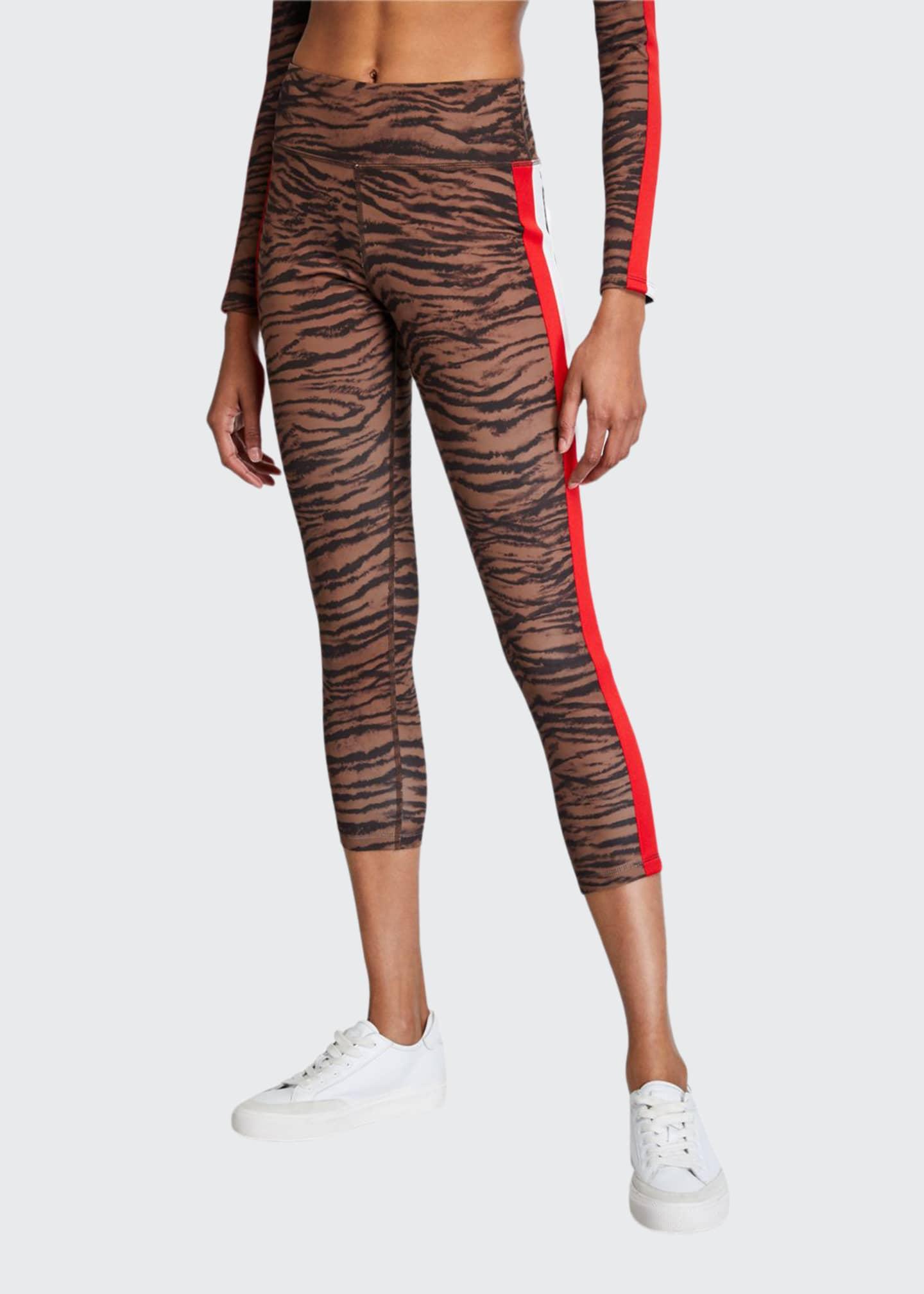 Pam & Gela Tiger Stripe High-Rise 7/8 Leggings