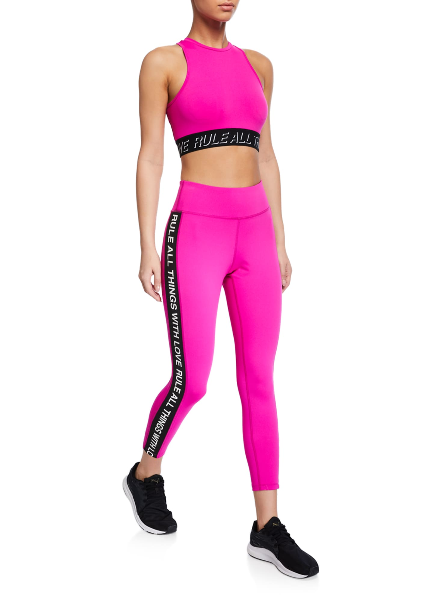 Image 3 of 3: Side-Stripe 7/8 Active Leggings