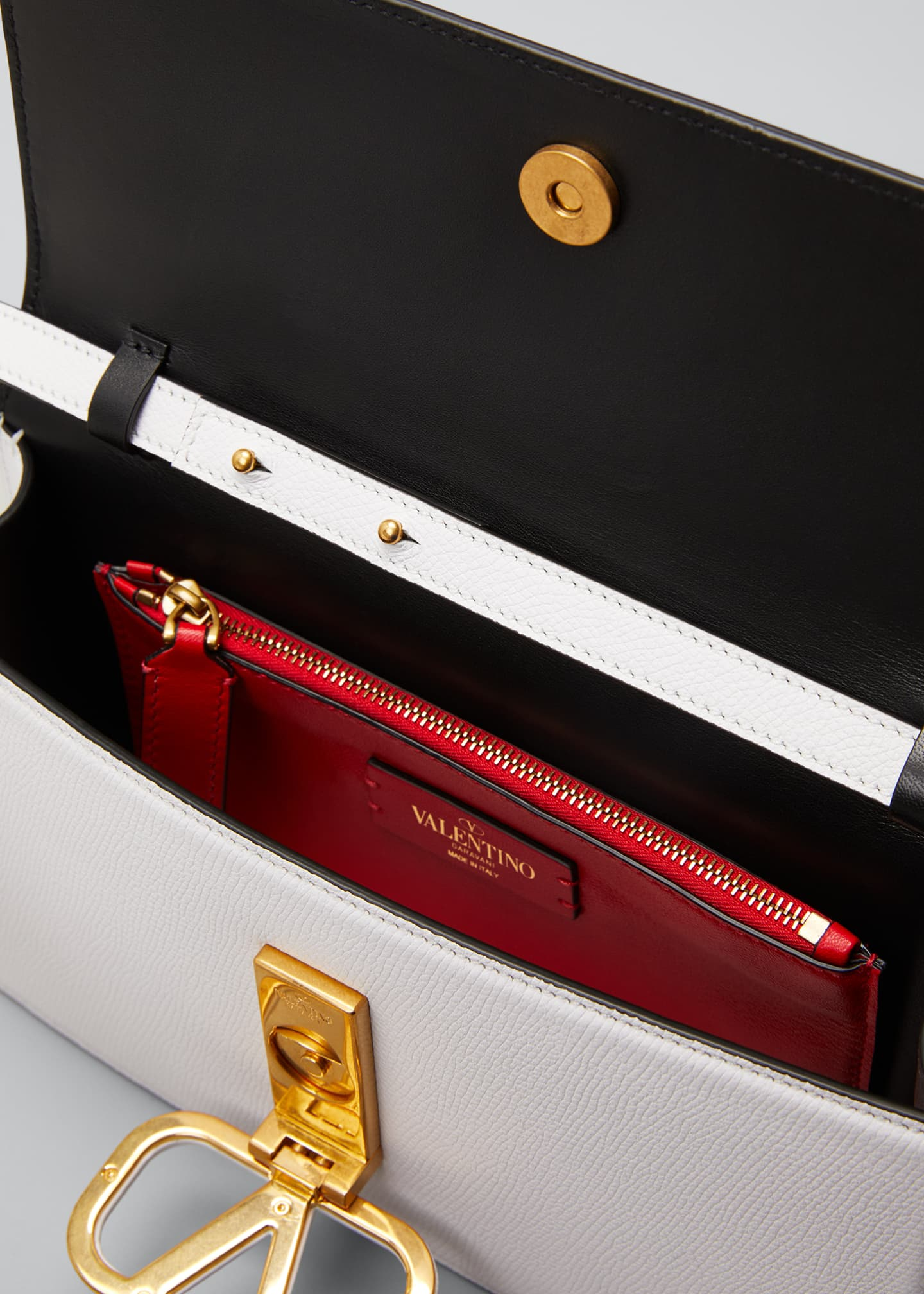 Image 4 of 5: VSLING Grain Calf Clutch Bag
