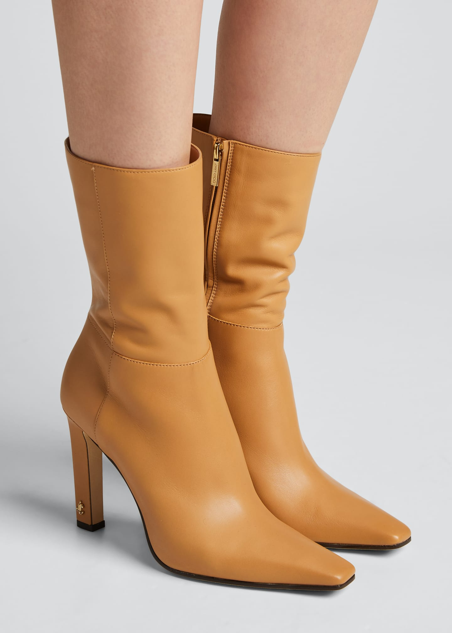 Image 2 of 5: Merche Soft Leather High-Heel Boots