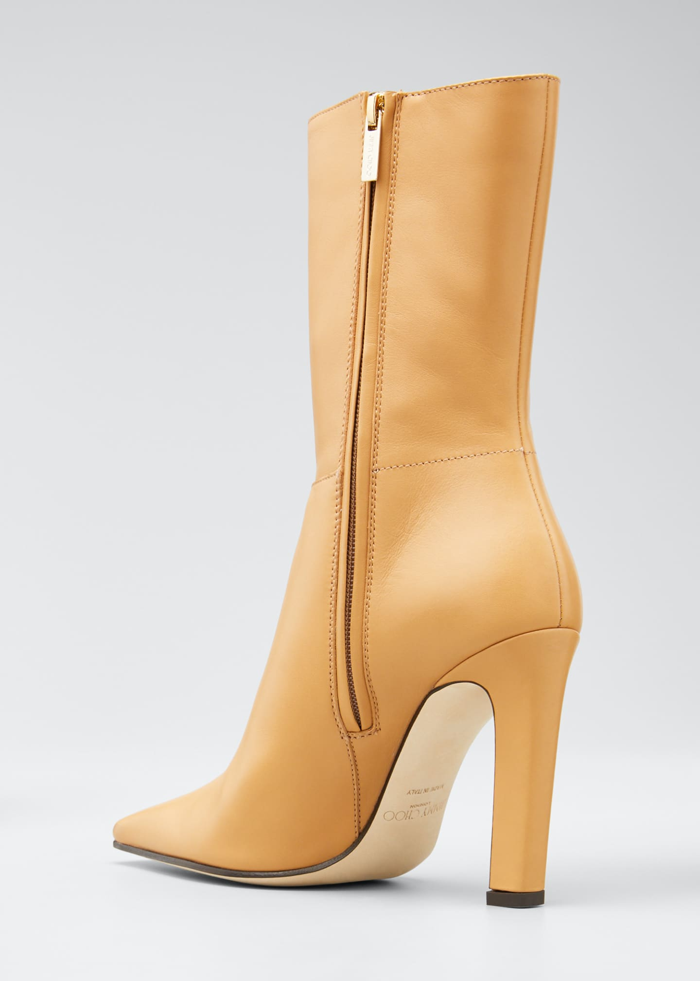 Image 4 of 5: Merche Soft Leather High-Heel Boots