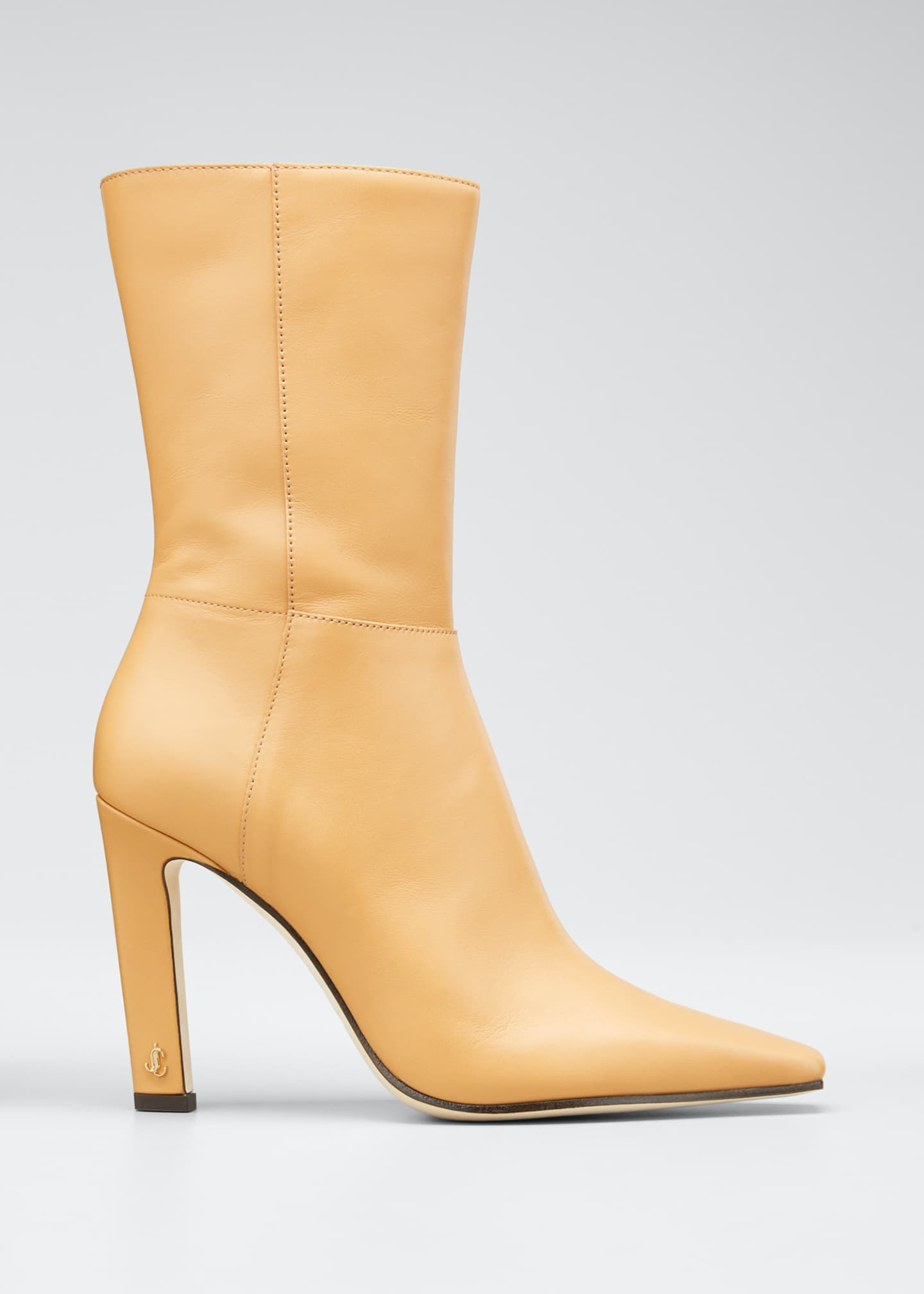 Image 1 of 5: Merche Soft Leather High-Heel Boots
