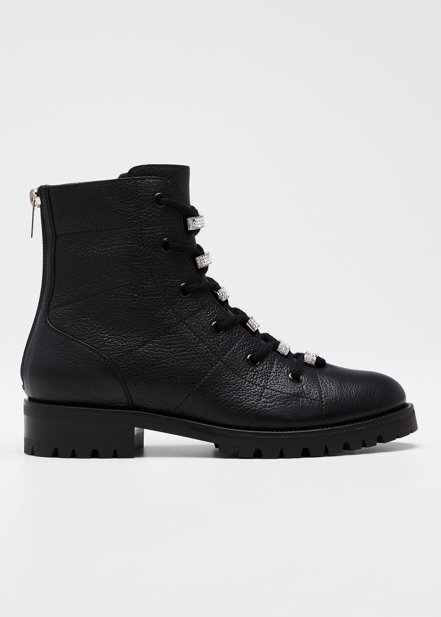 Jimmy Choo Hadley Leather Combat Boots