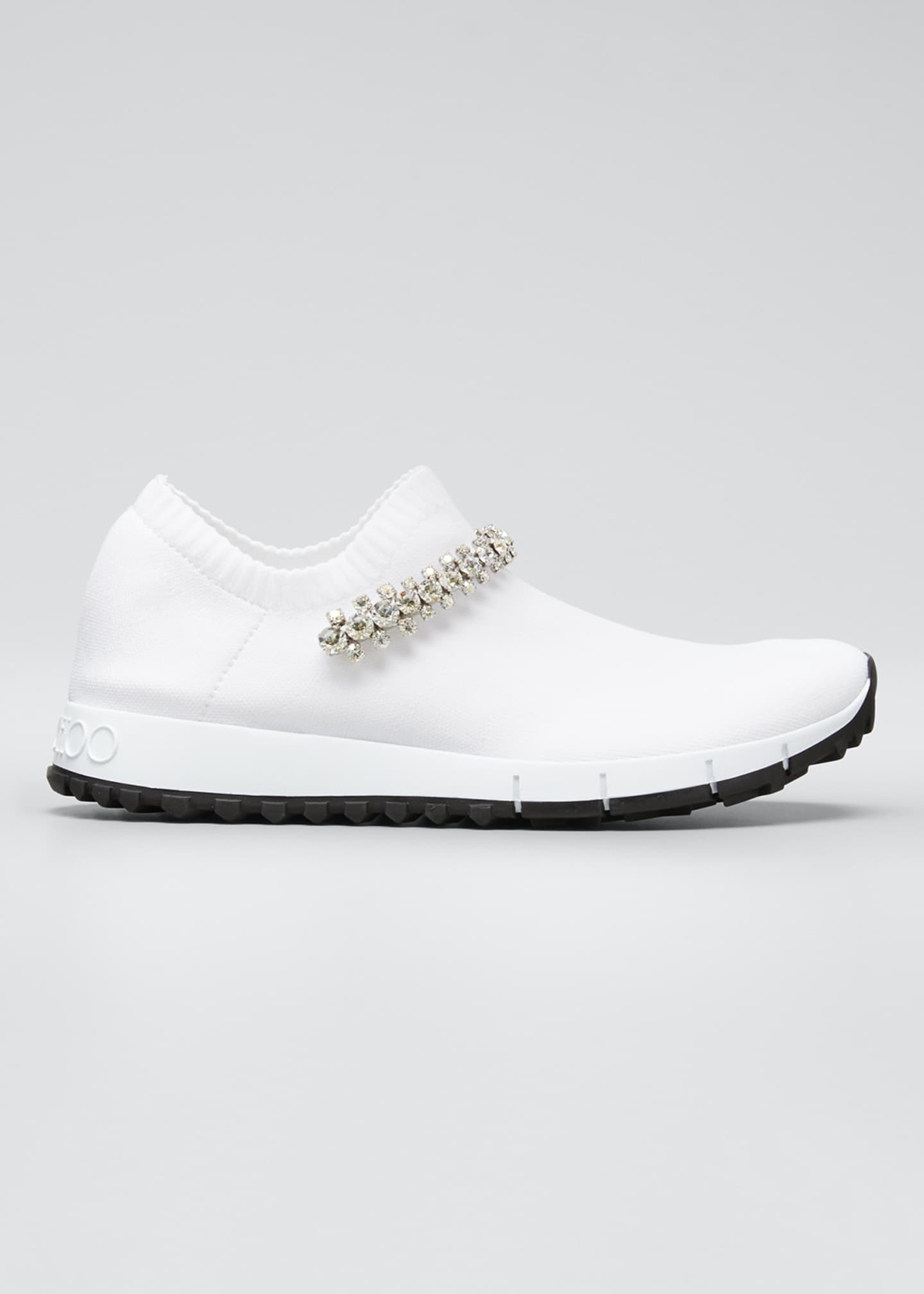 Jimmy Choo Verona Knit Chunky Sneakers w/ Crystal