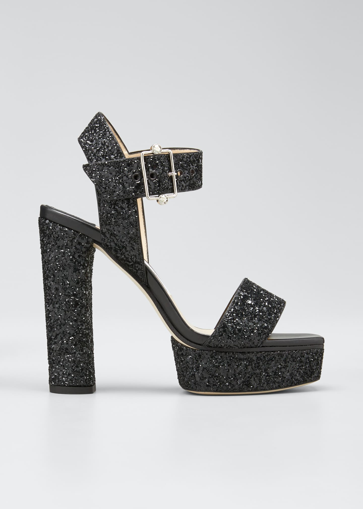 Image 1 of 3: Maie Glitter Platform Sandals