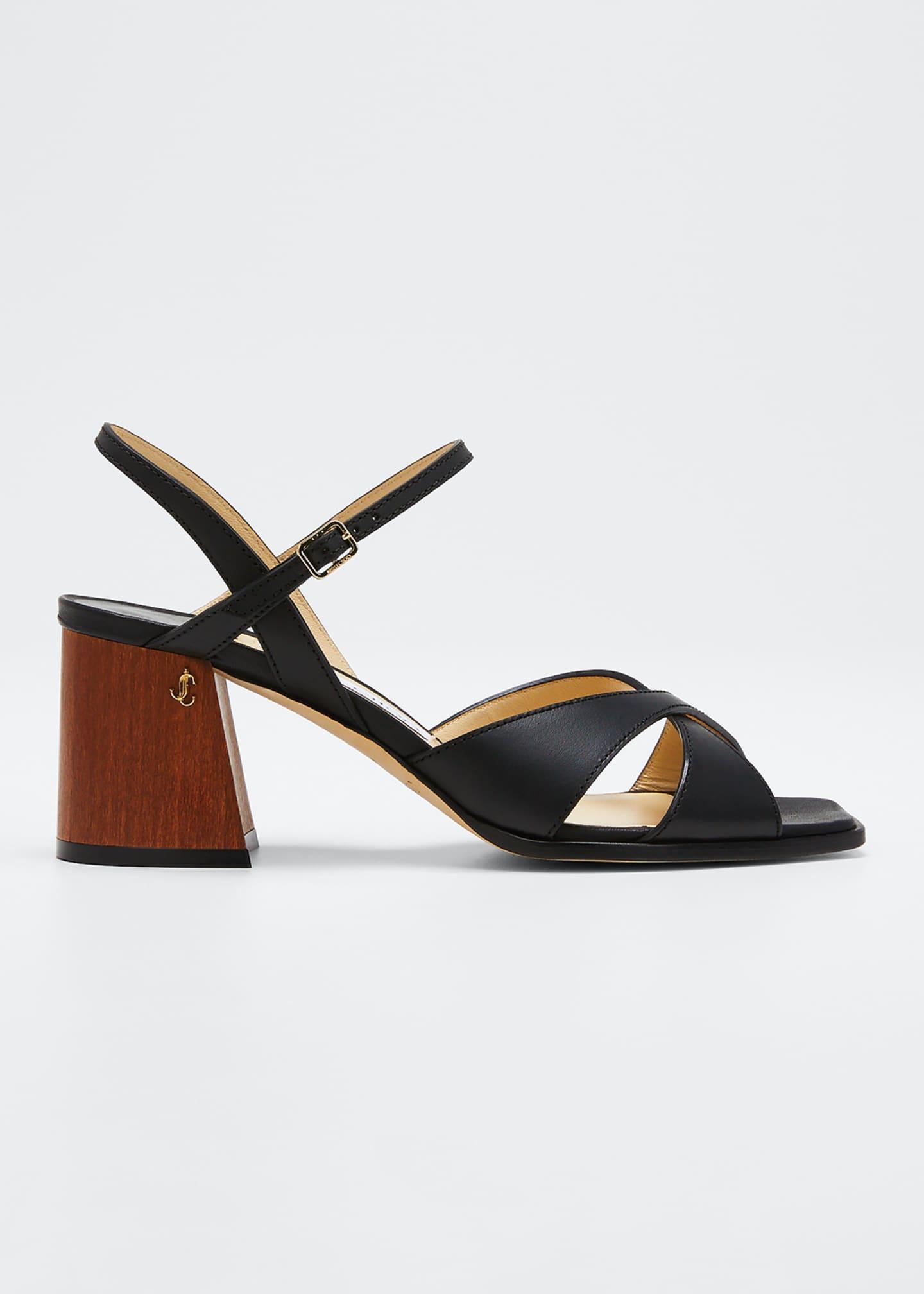 Jimmy Choo Joya 65mm Leather Sandals