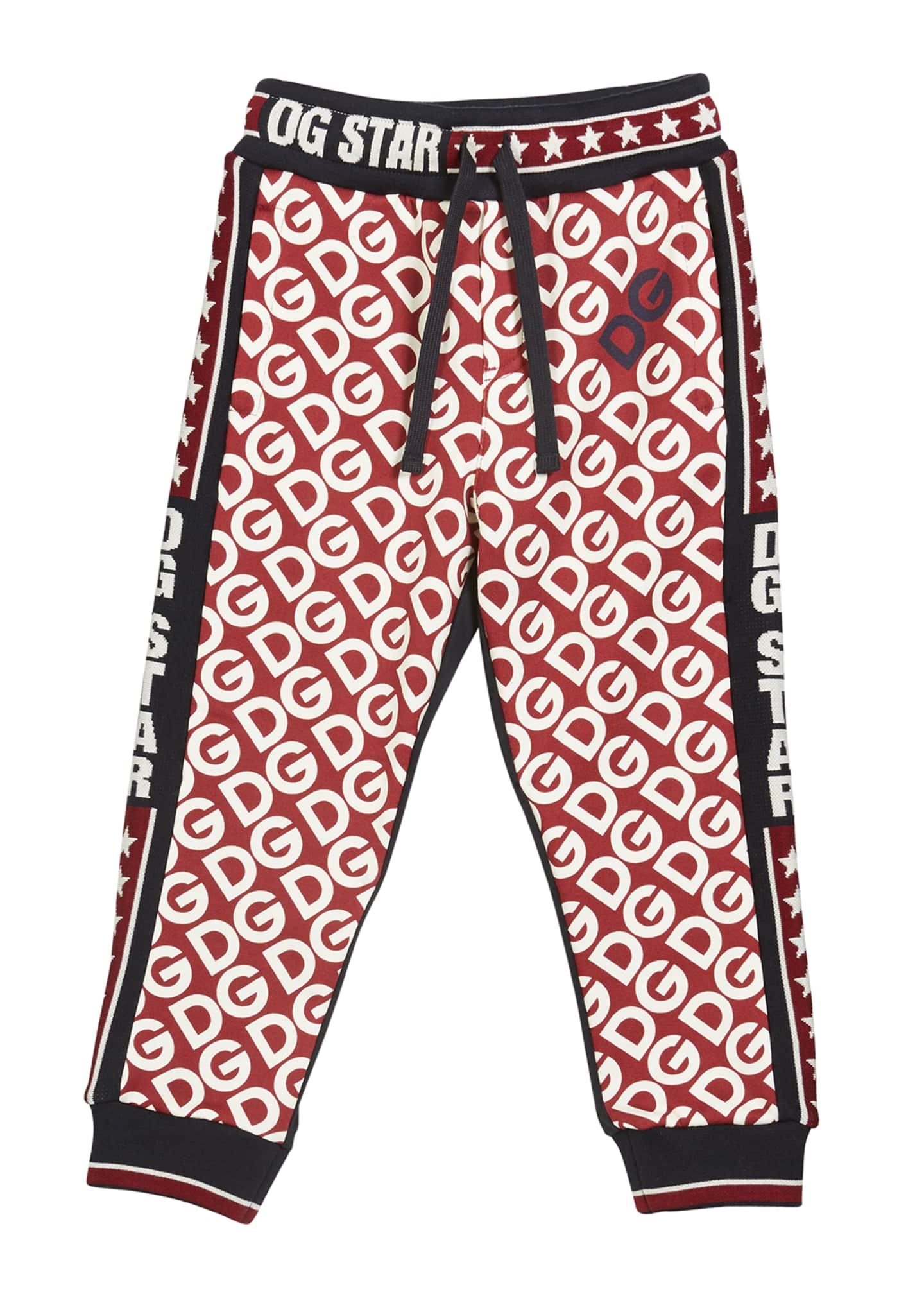 Dolce & Gabbana Kid's DG Print Jogger Pants,