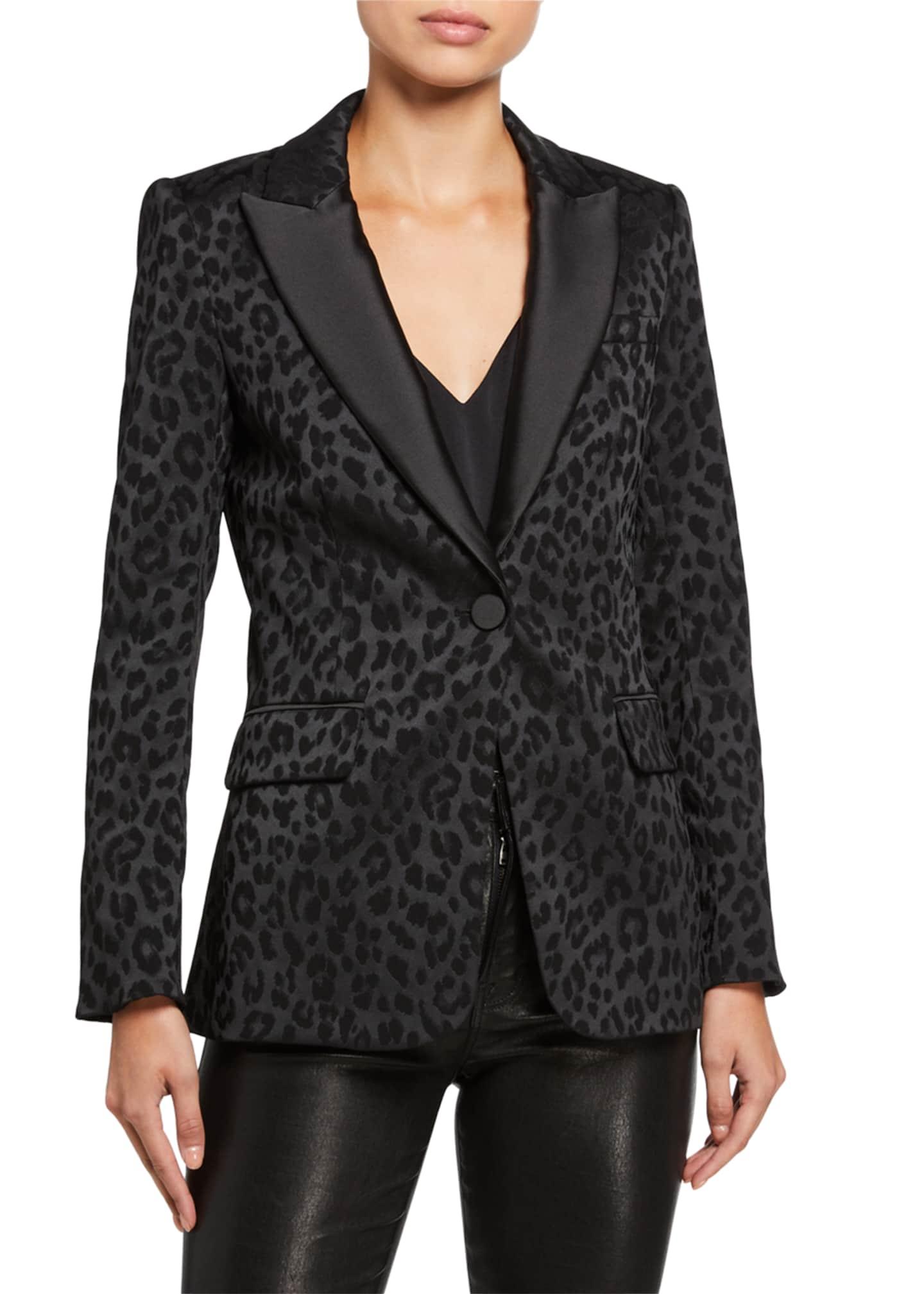 Veronica Beard Ashburn Leopard-Print Dickey Jacket