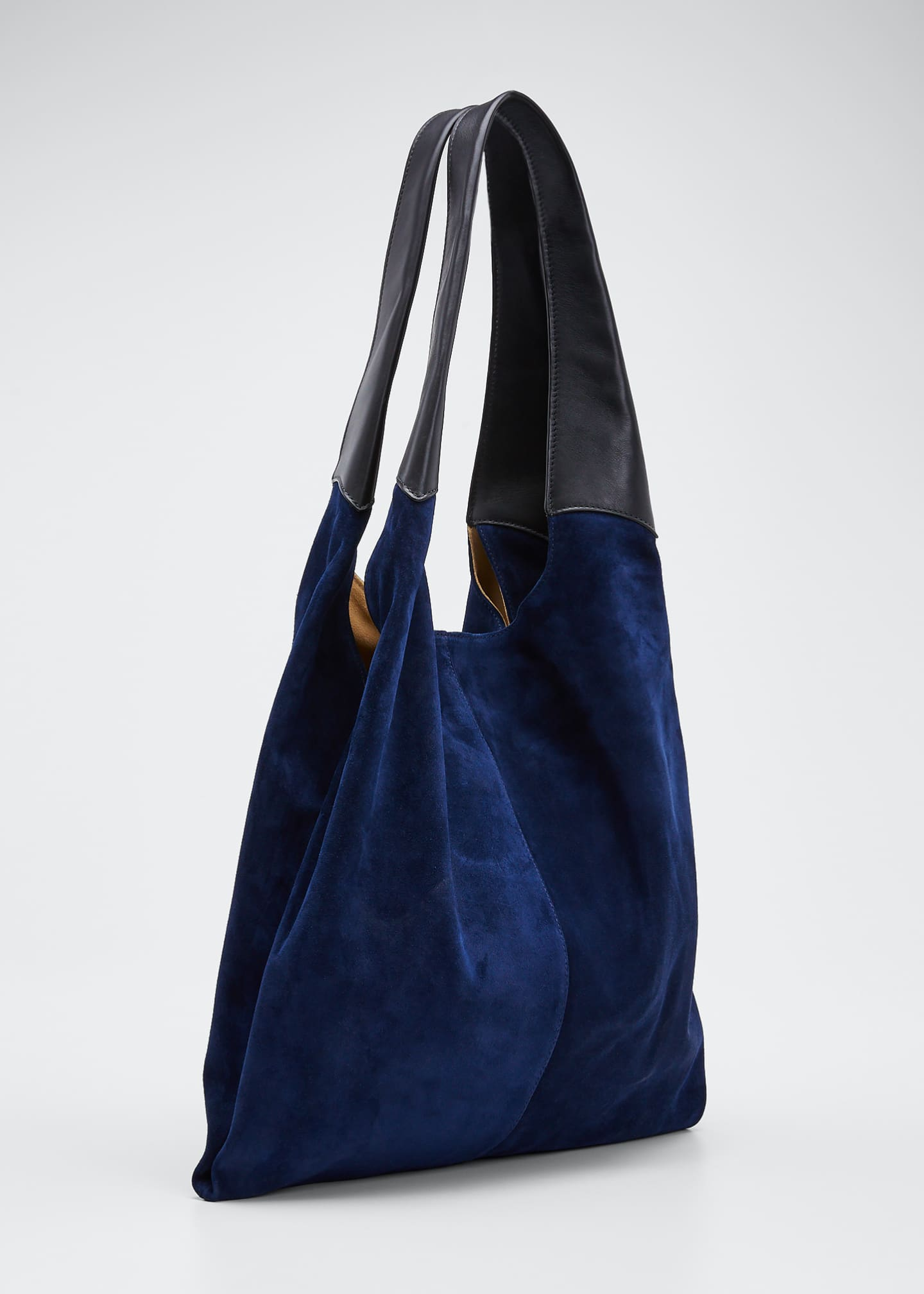 Image 3 of 5: Grand Suede & Leather Shopper Tote Bag