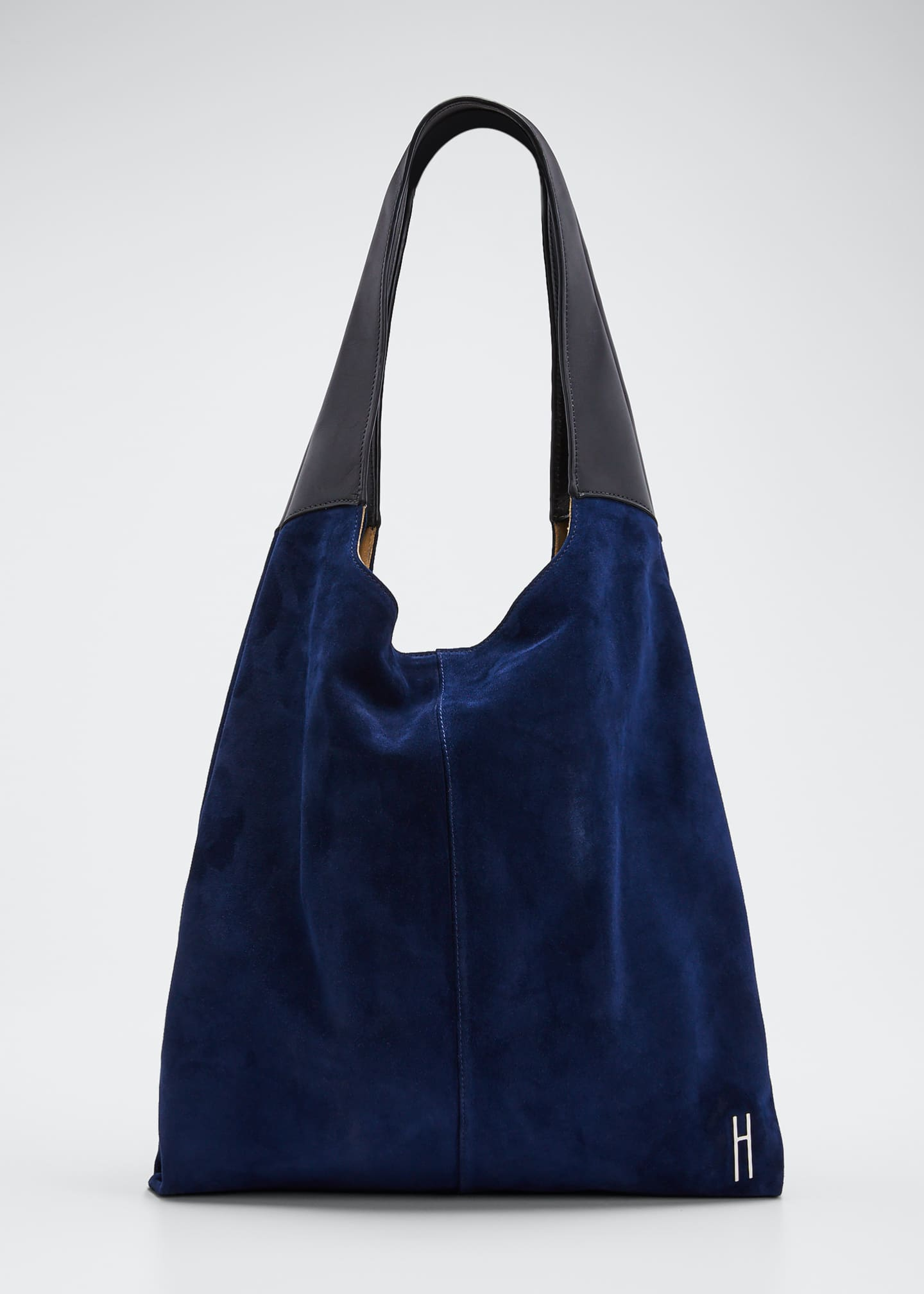 Image 1 of 5: Grand Suede & Leather Shopper Tote Bag