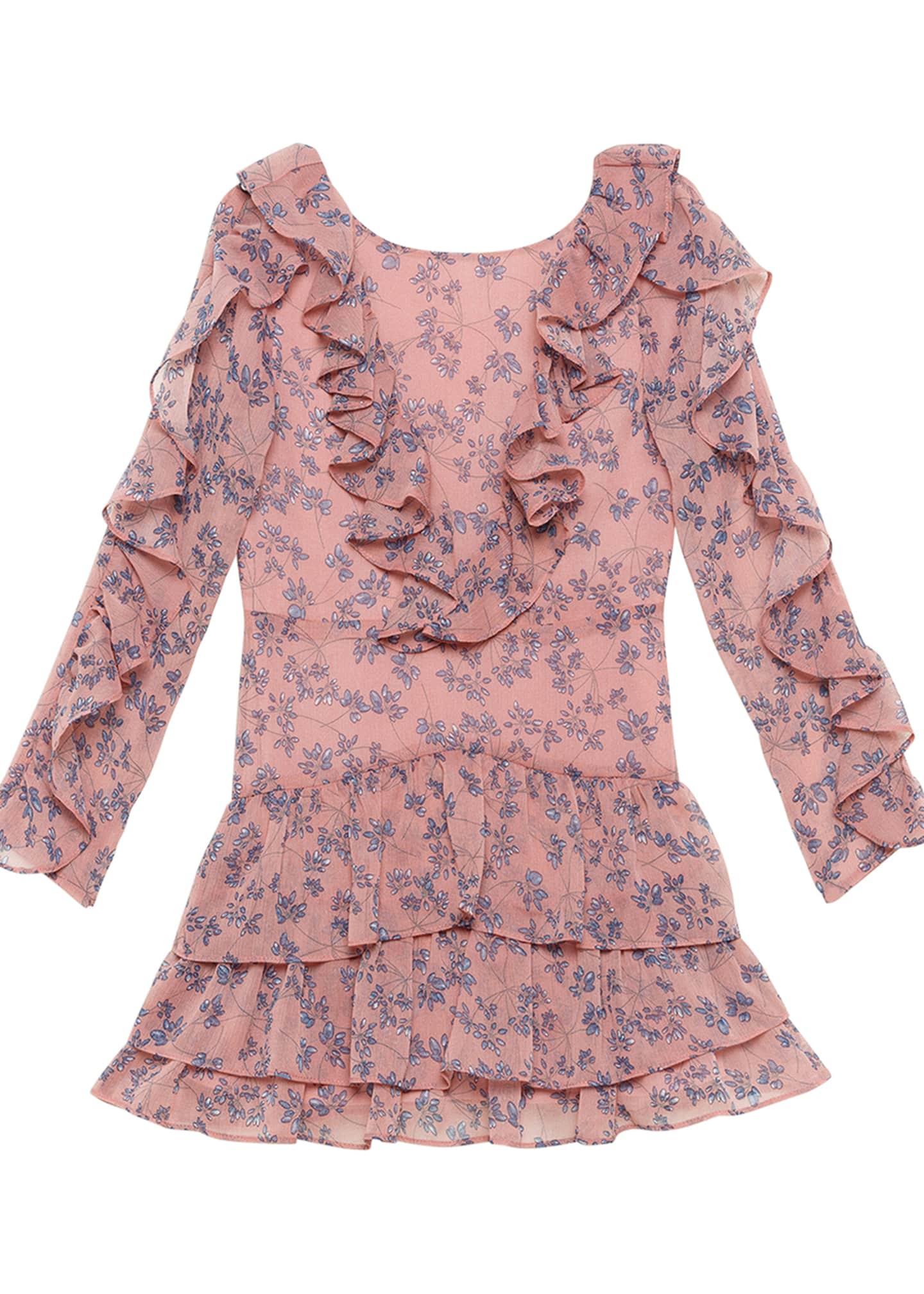 Bardot Junior Girl's Alessia Ruffle Floral Print Dress,