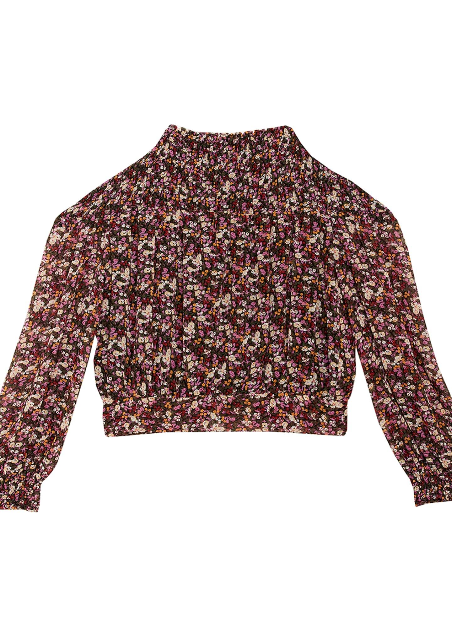 Bardot Junior Girl's Grace Shirred Floral Print Top,