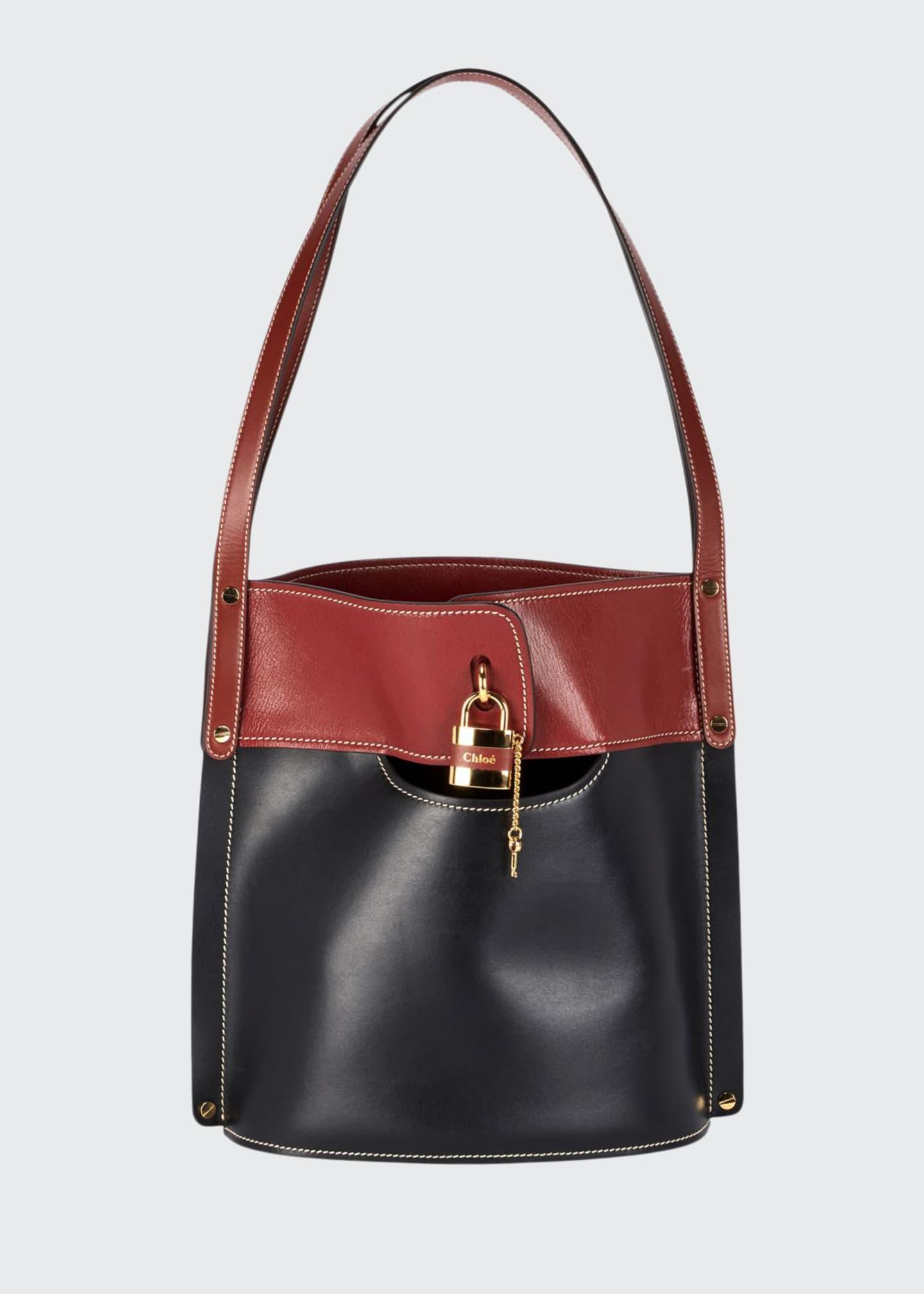 Chloe Aby Two-Tone Bucket Bag