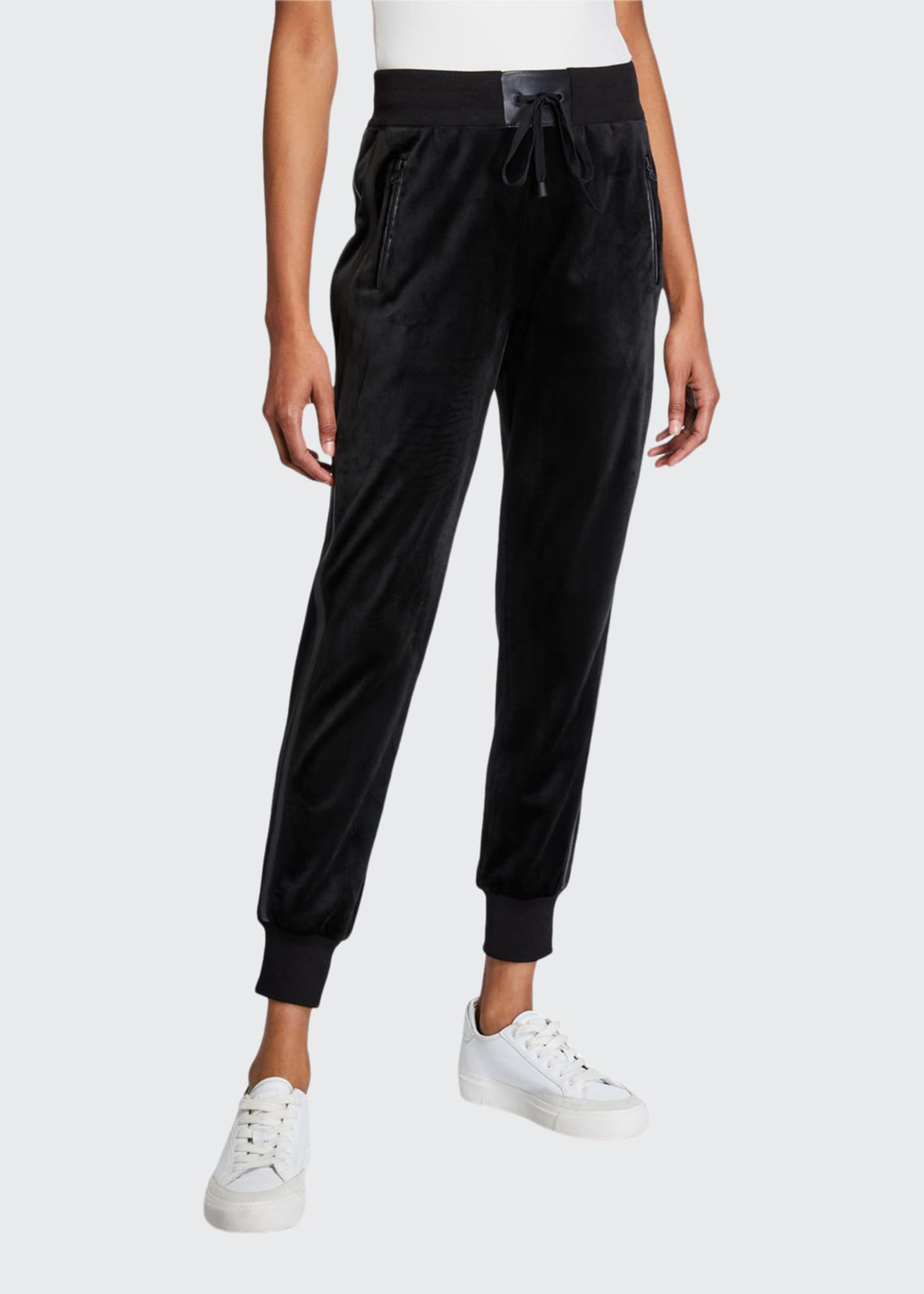 Blanc Noir Interpol High Rise Velvet Jogger Pants