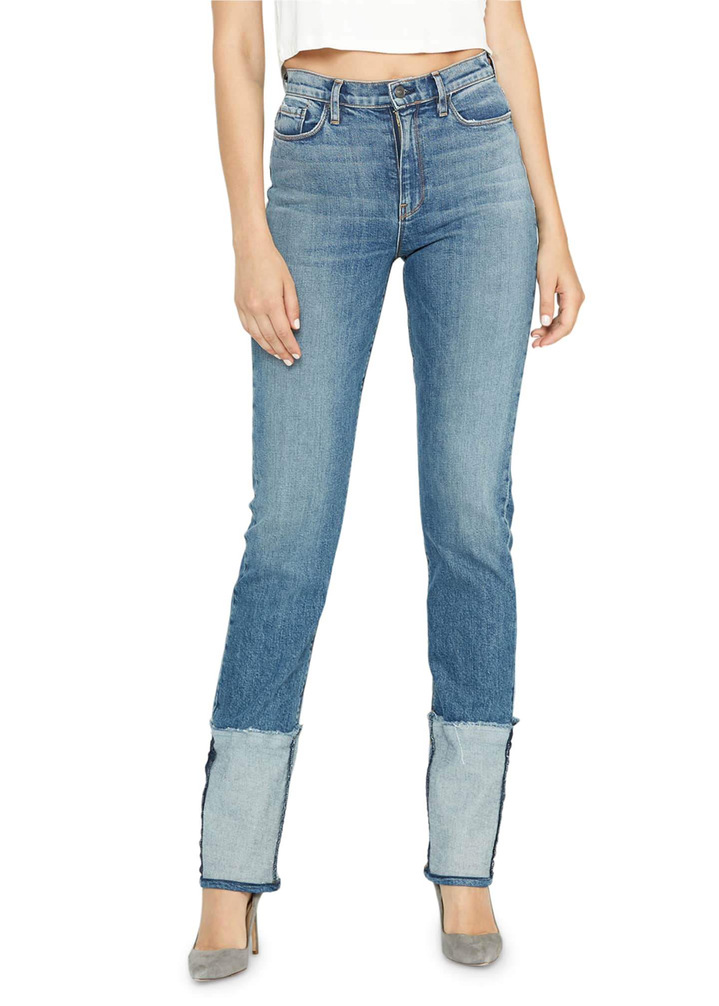Hudson Holly High-Rise Deep-Cuff Jeans