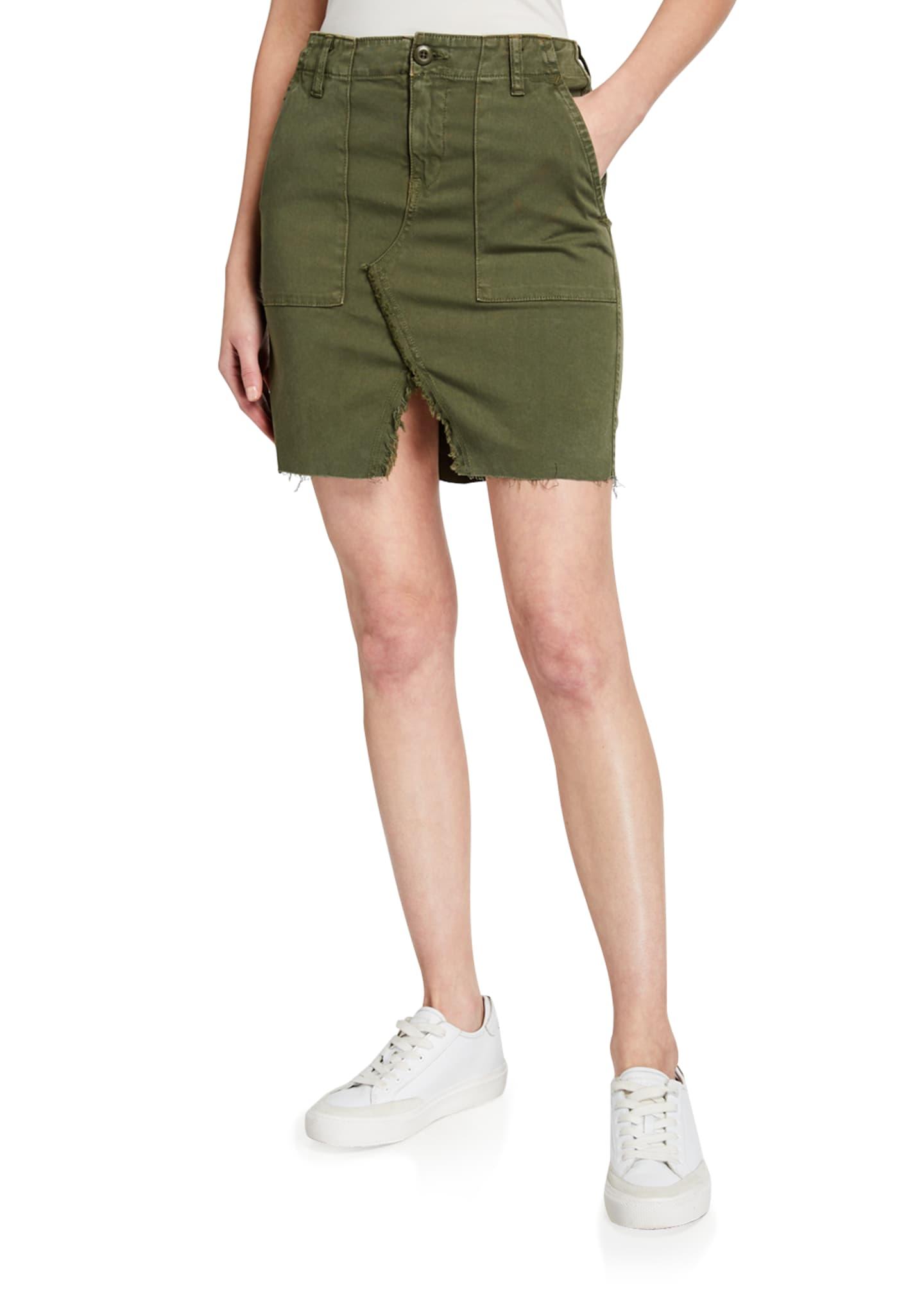 Hudson Lulu Military-Style Cargo Skirt