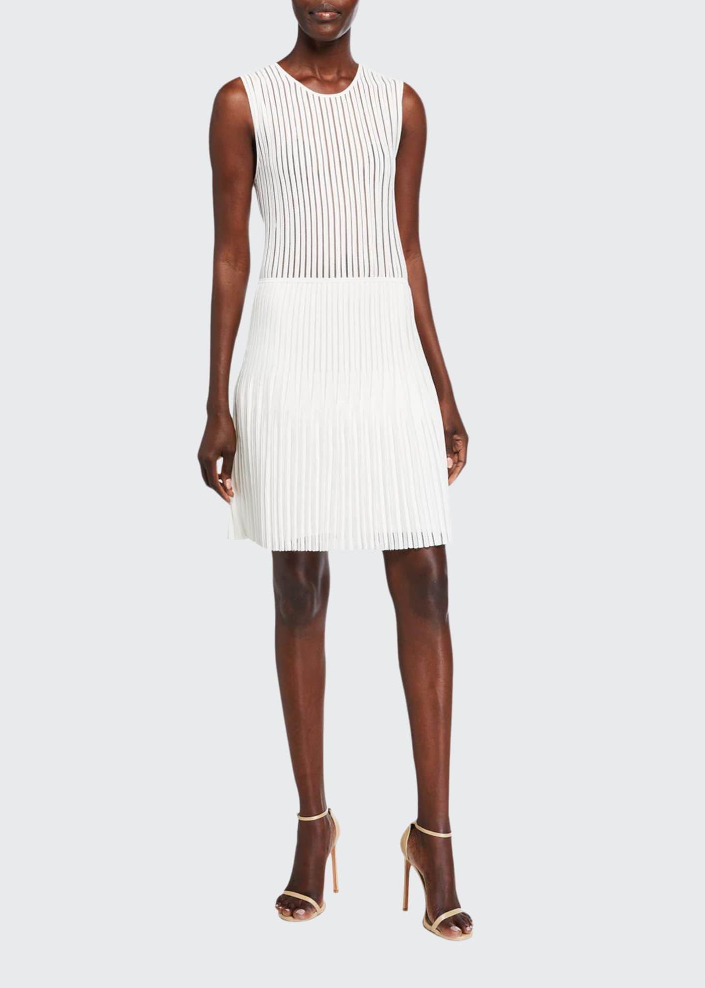 Dion Lee Pleated Knit Mini Dress