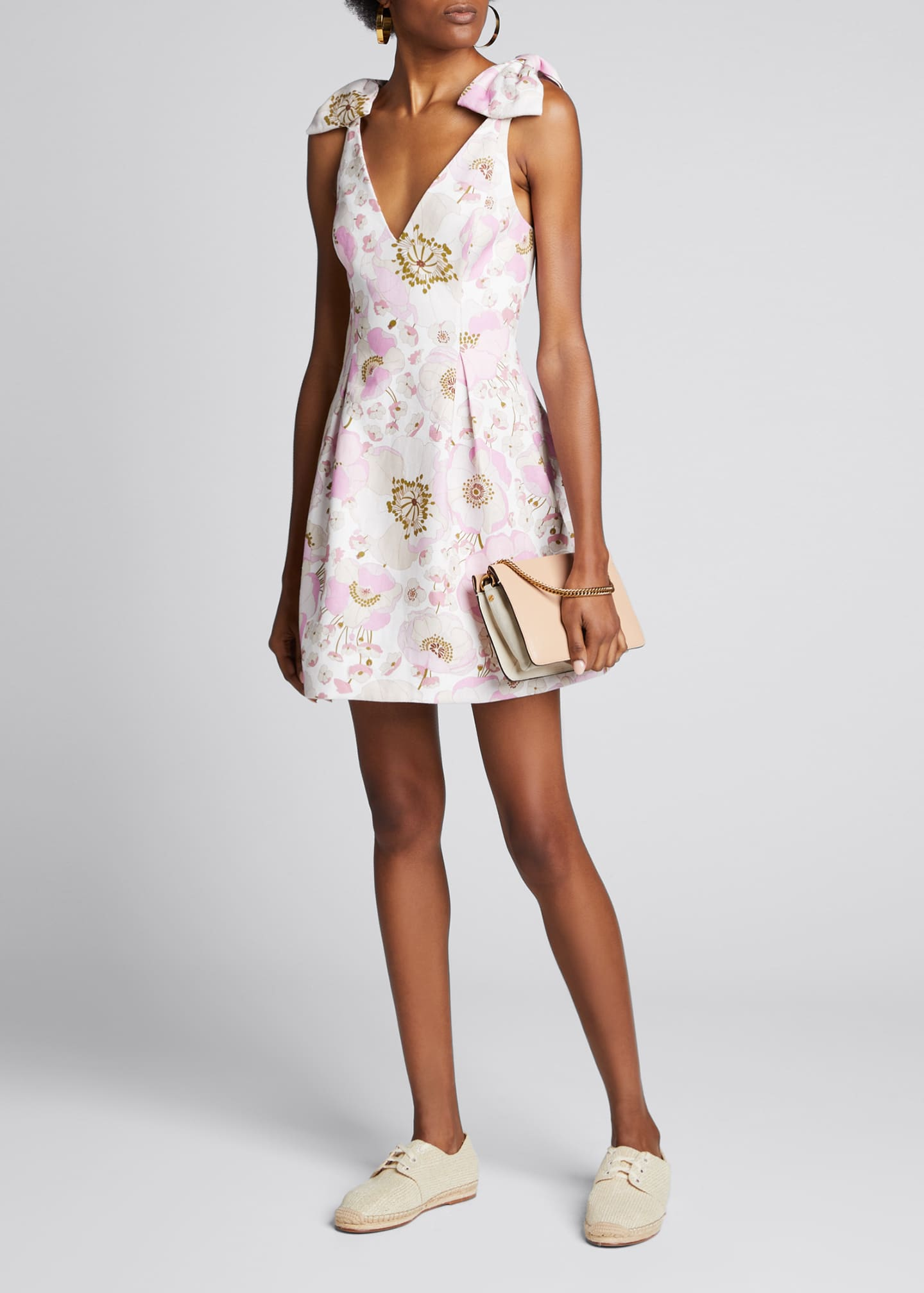 Zimmermann Super Eight Floral Linen Short Dress