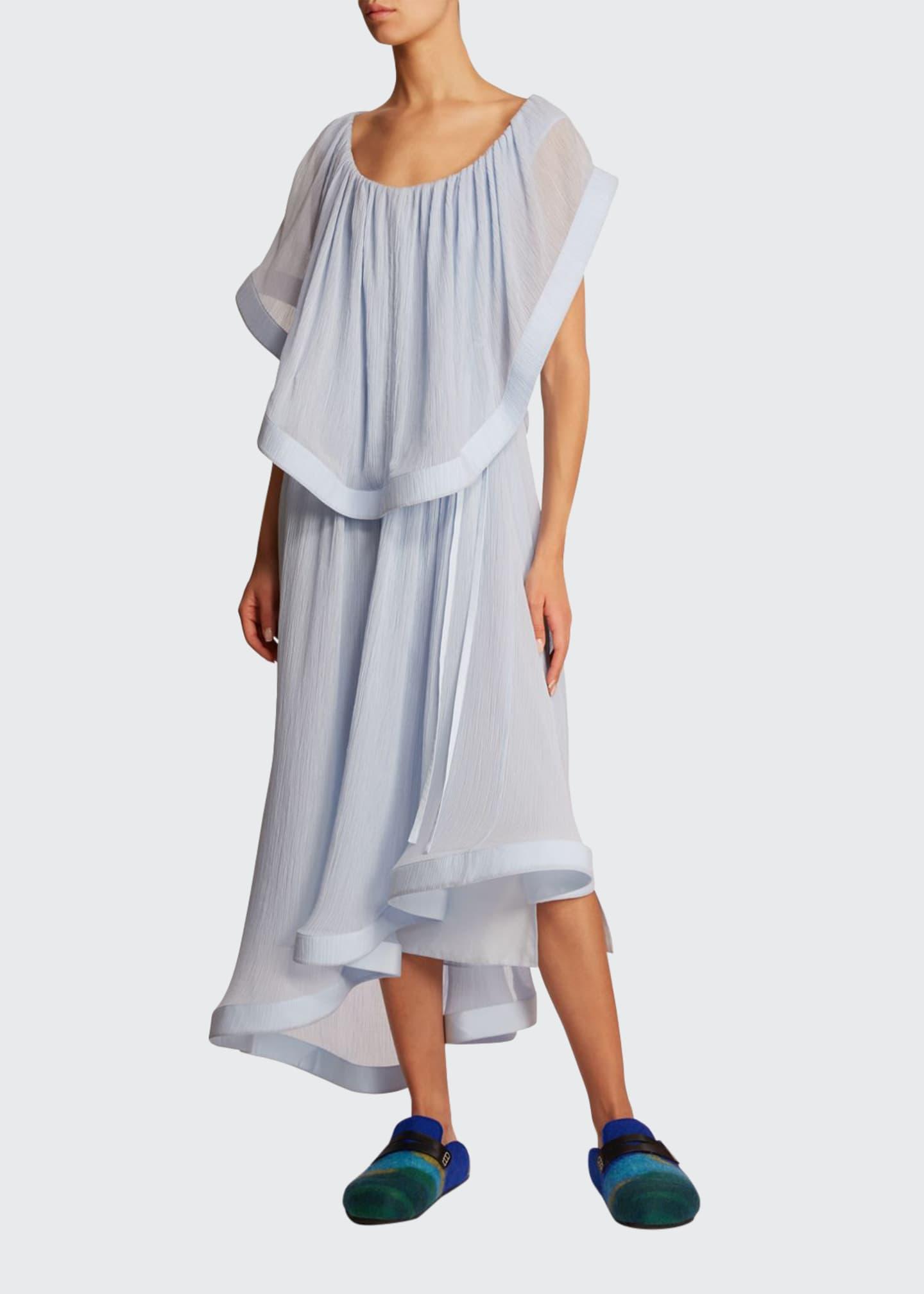 JW Anderson Silk Overylay Asymmetric Dress